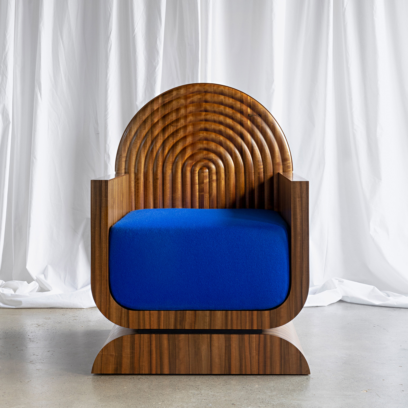 X Chair In Rare Queensland Walnut With Kvadrat Upholstery By Zachary Frankel Hero