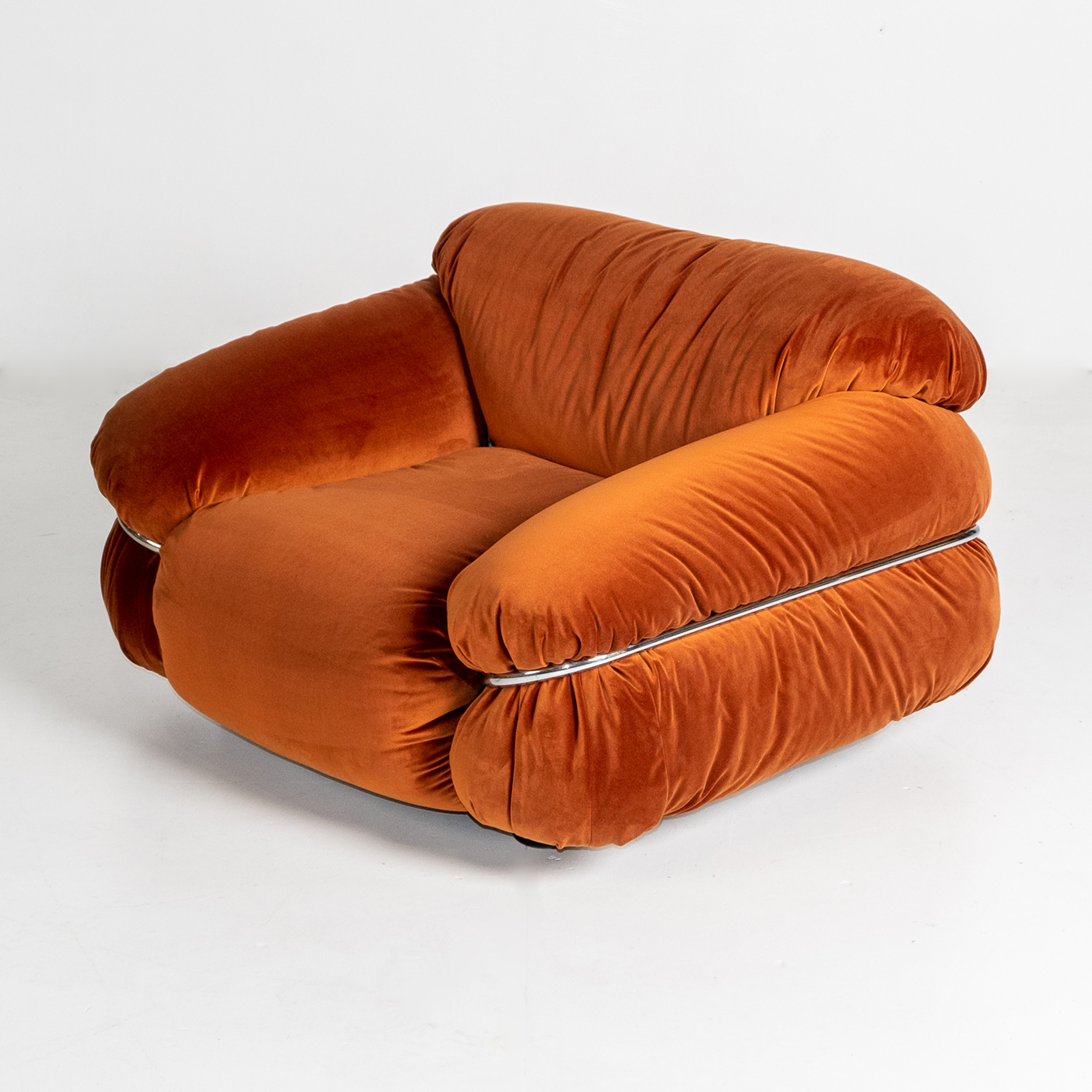 Model 595 Sesann Armchair By Gianfranco Frattini For Cassina, 1970s, Italy Hero
