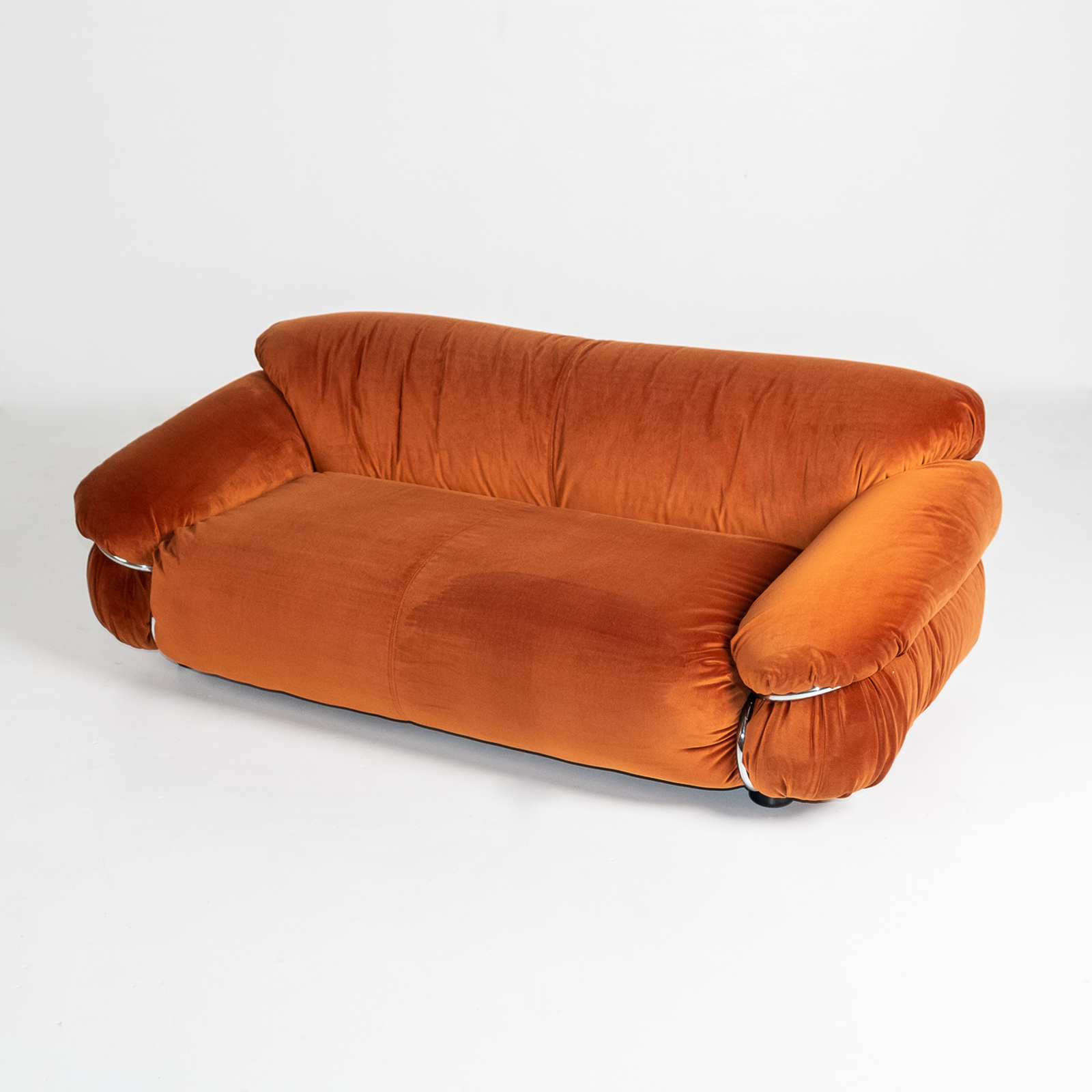 Model 595 Sesann Sofa By Gianfranco Frattini For Cassina, 1970s, Italy Hero