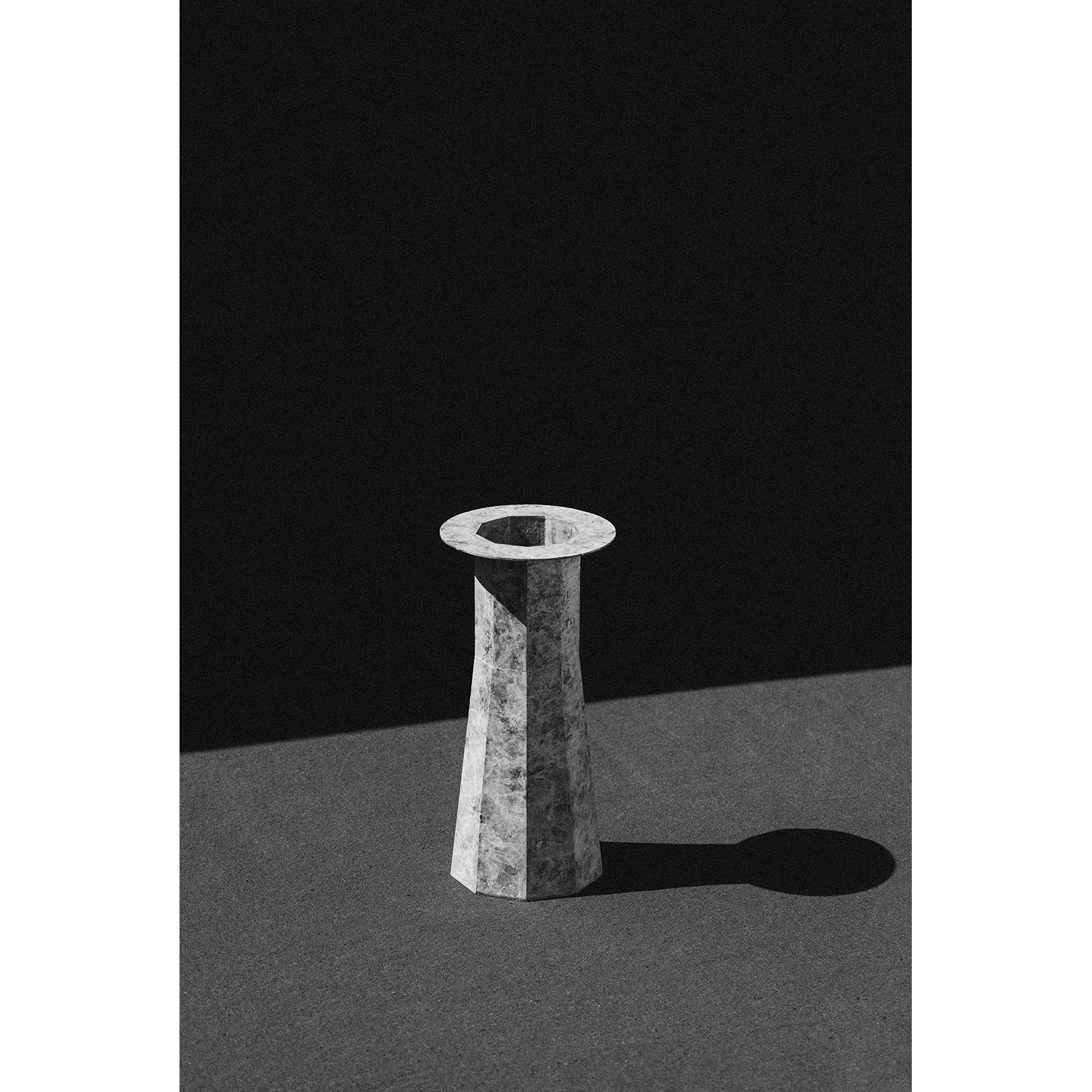 Water Tower Ii In Patinated Brass By Kenny Yong Soo Son B&w