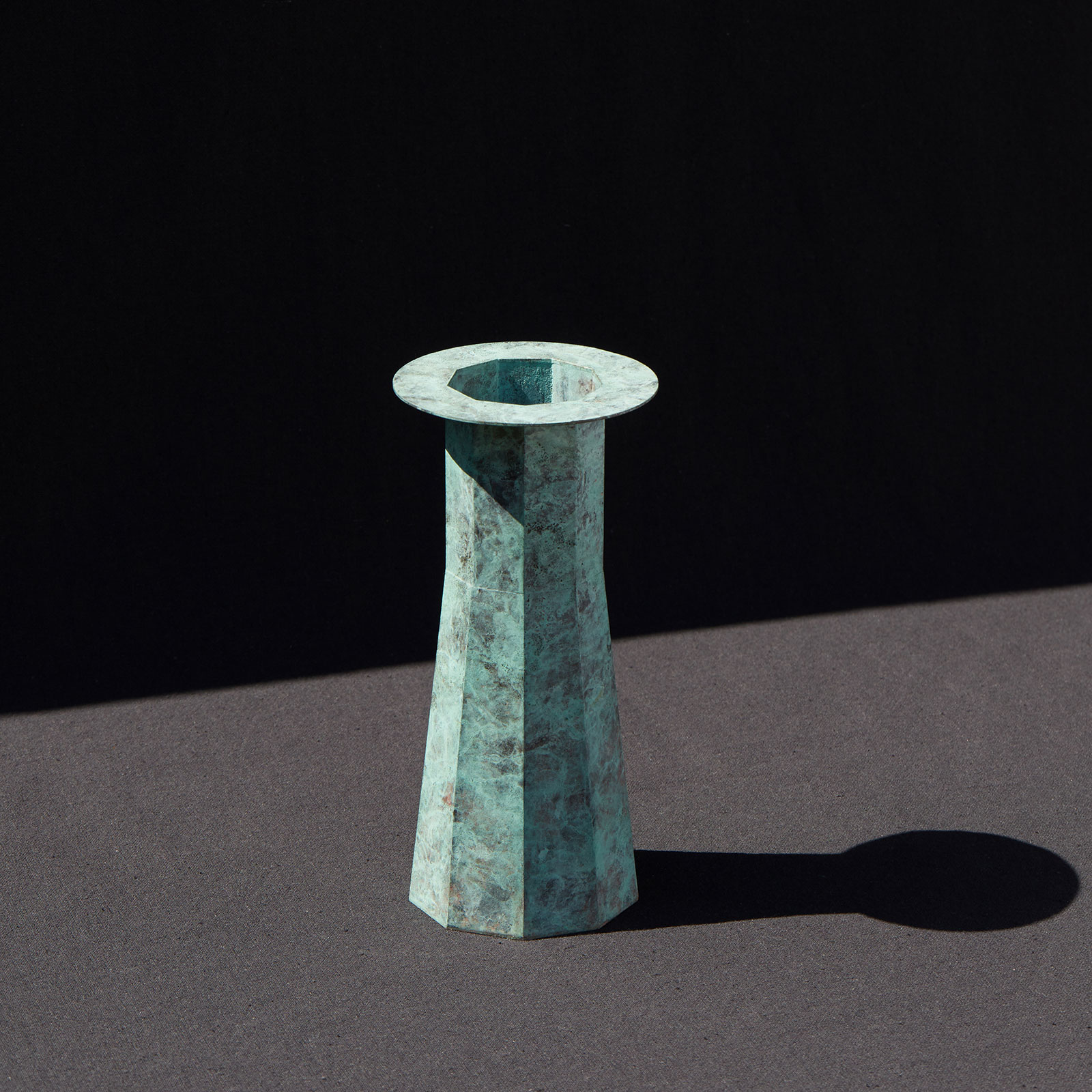 Water Tower Ii In Patinated Brass By Kenny Yong Soo Son Hero