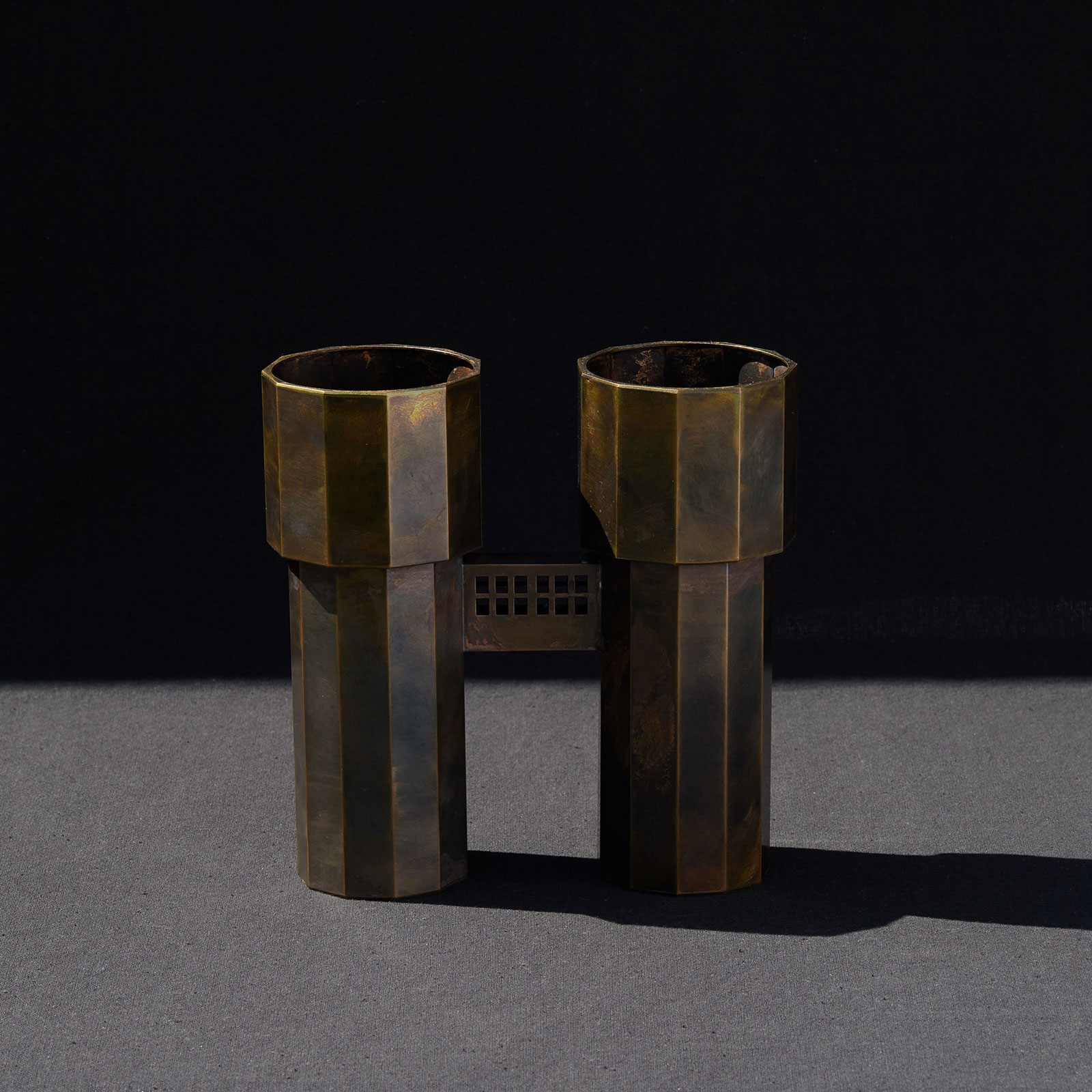 Water Tower V In Patinated Brass By Kenny Yong Soo Son 2