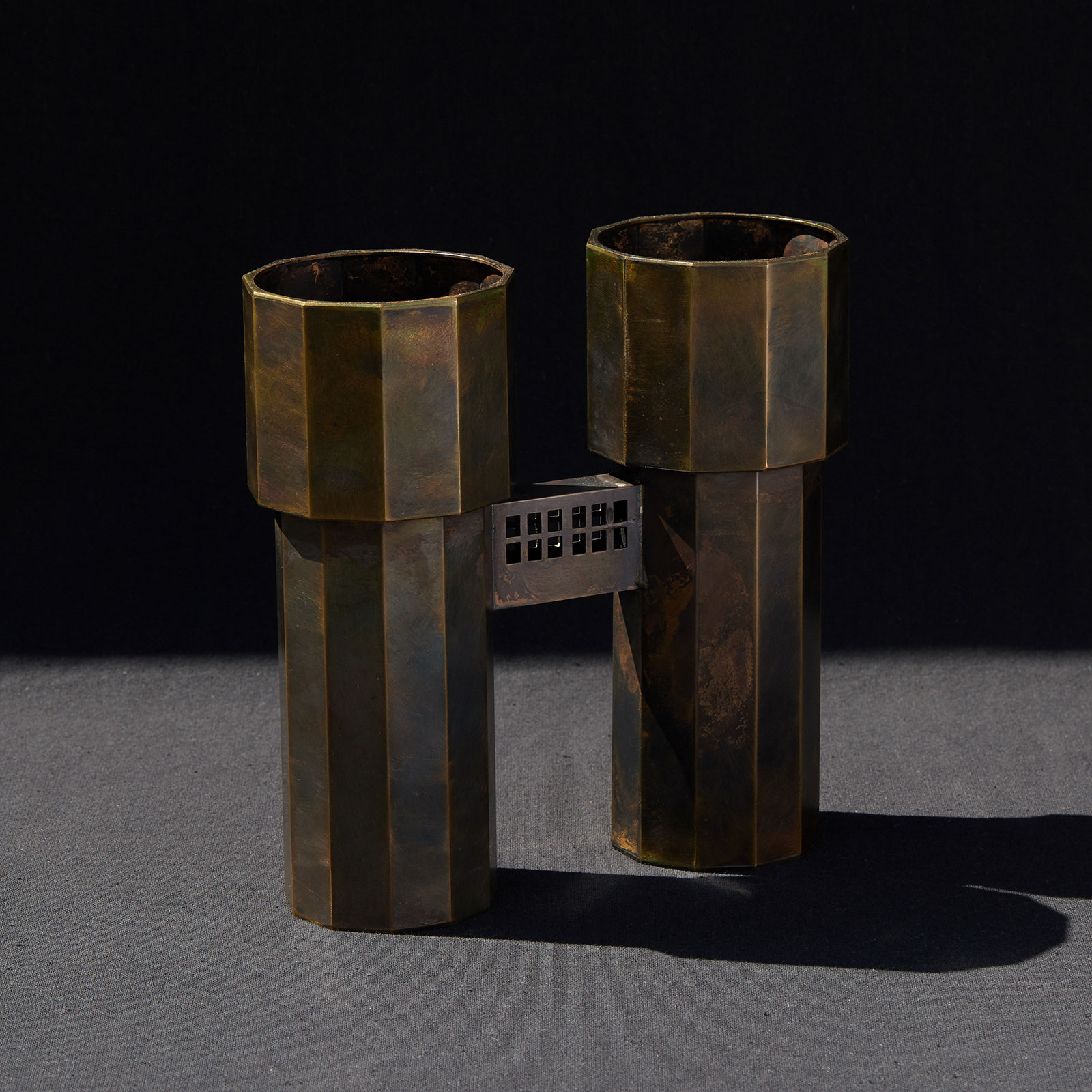 Water Tower V In Patinated Brass By Kenny Yong Soo Son Hero