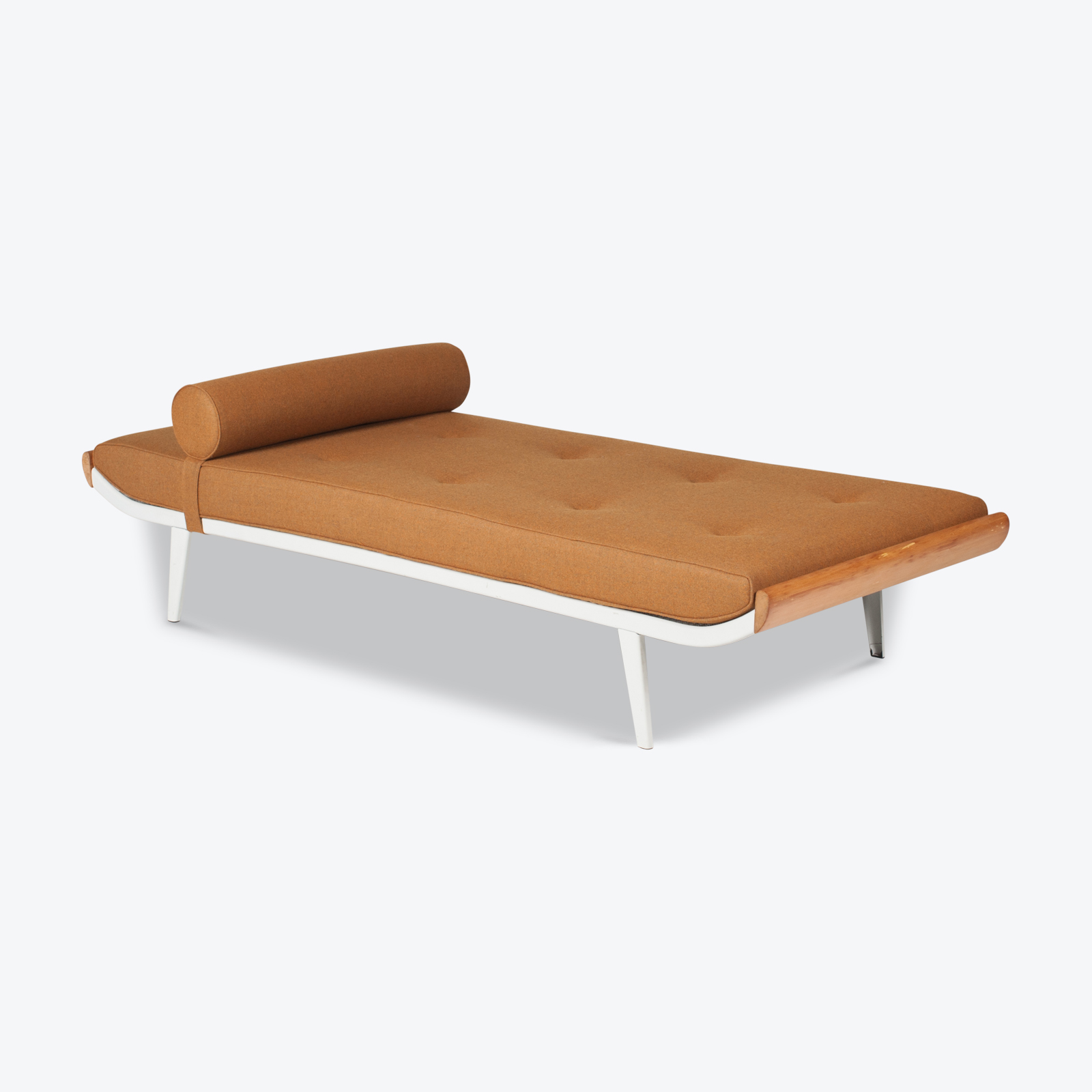 Cleopatra Daybed By Andre Cordemeyer For Auping In Wide White Frame, 1950s, The Netherlands Hero