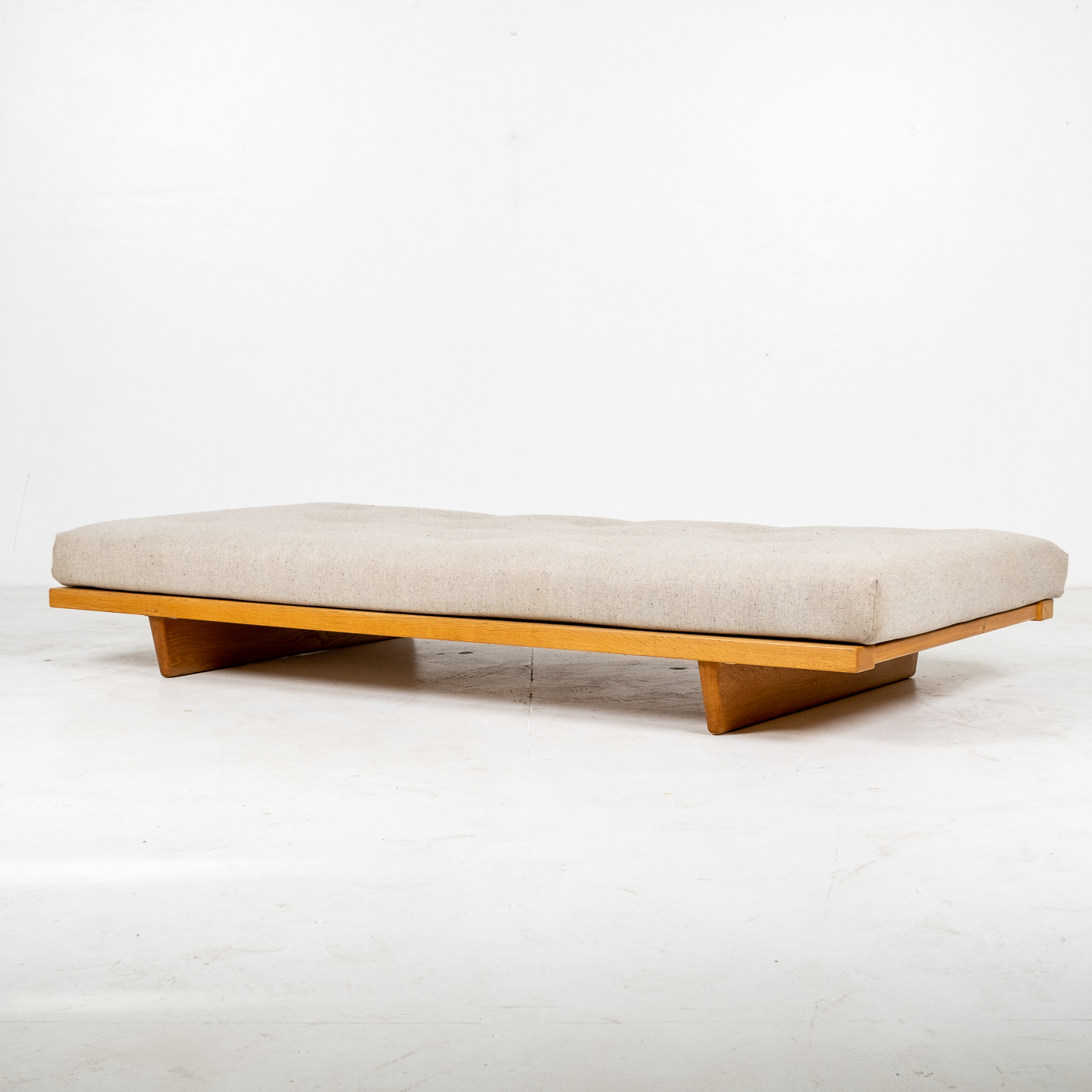 Model 192 Daybed By Borge Mogensen For Fredericia Stolefabrik In Oak And Instyle Upholstery, 1958, Denmark 12