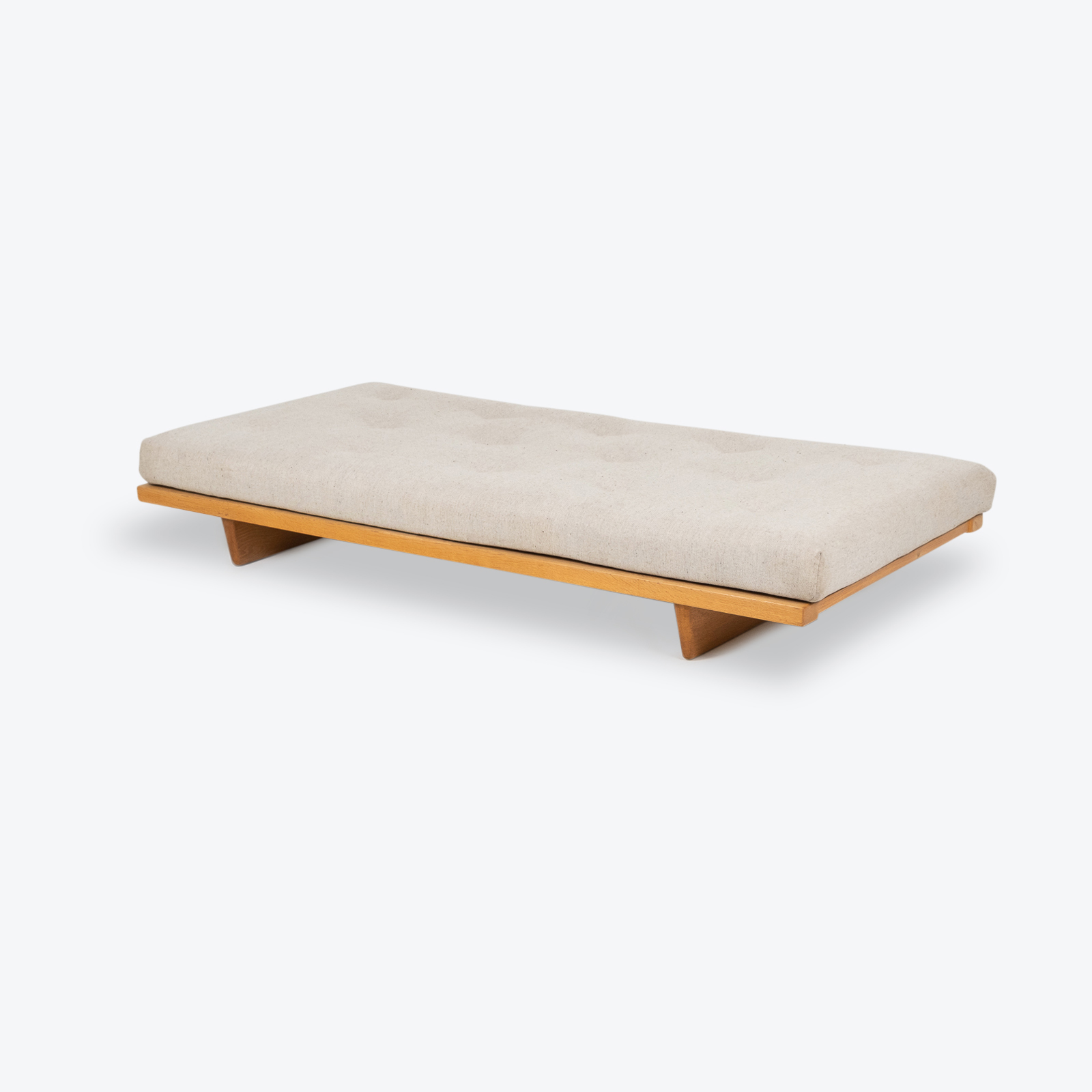 Model 192 Daybed By Borge Mogensen For Fredericia Stolefabrik In Oak And Instyle Upholstery, 1958, Denmark Herov1