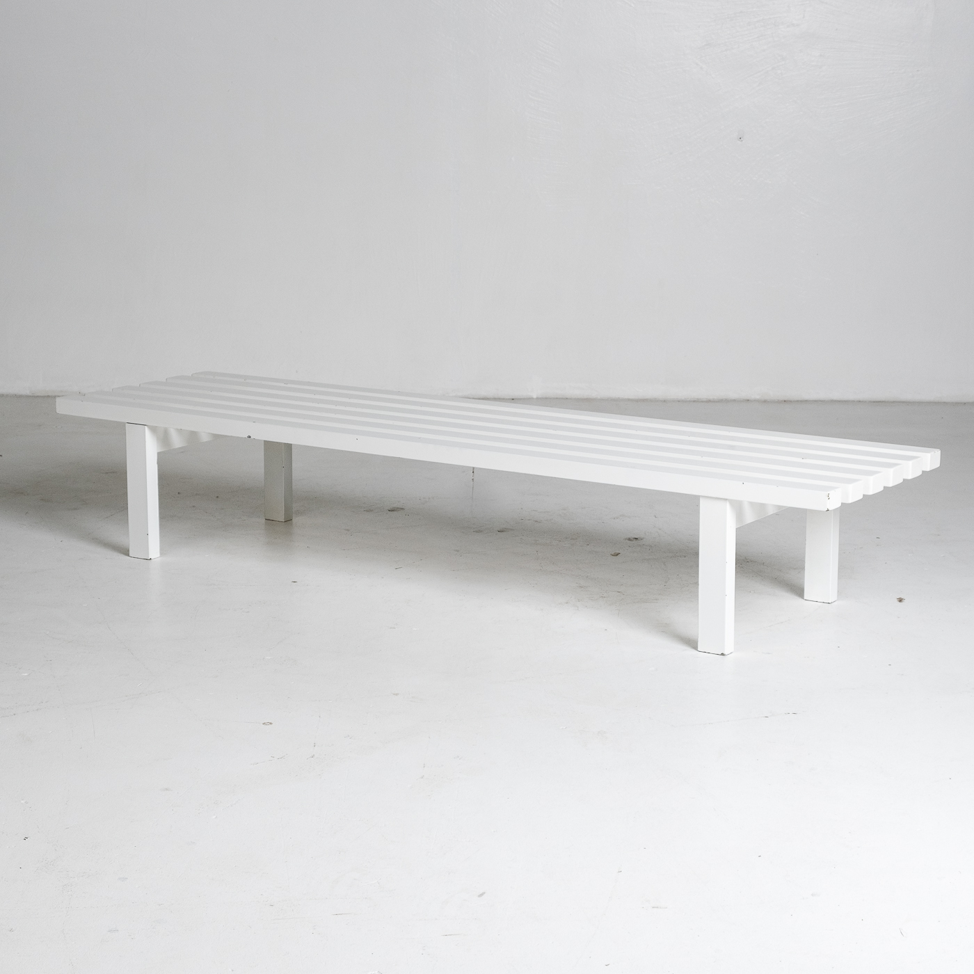 Bench In White Steel In The Style Of Metaform, 1970s, The Netherlands 2