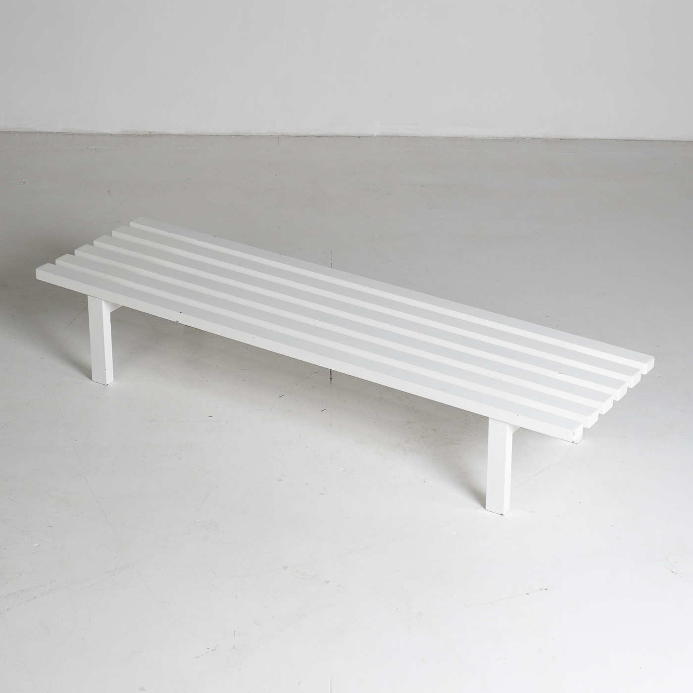 Bench In White Steel In The Style Of Metaform, 1970s, The Netherlands 5