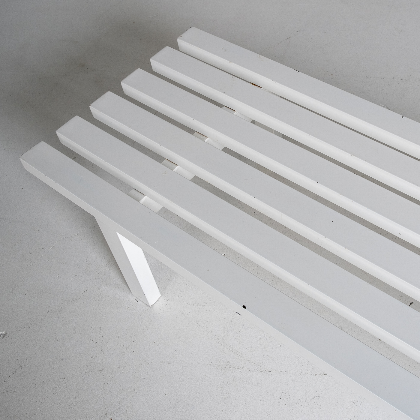Bench In White Steel In The Style Of Metaform, 1970s, The Netherlands 8