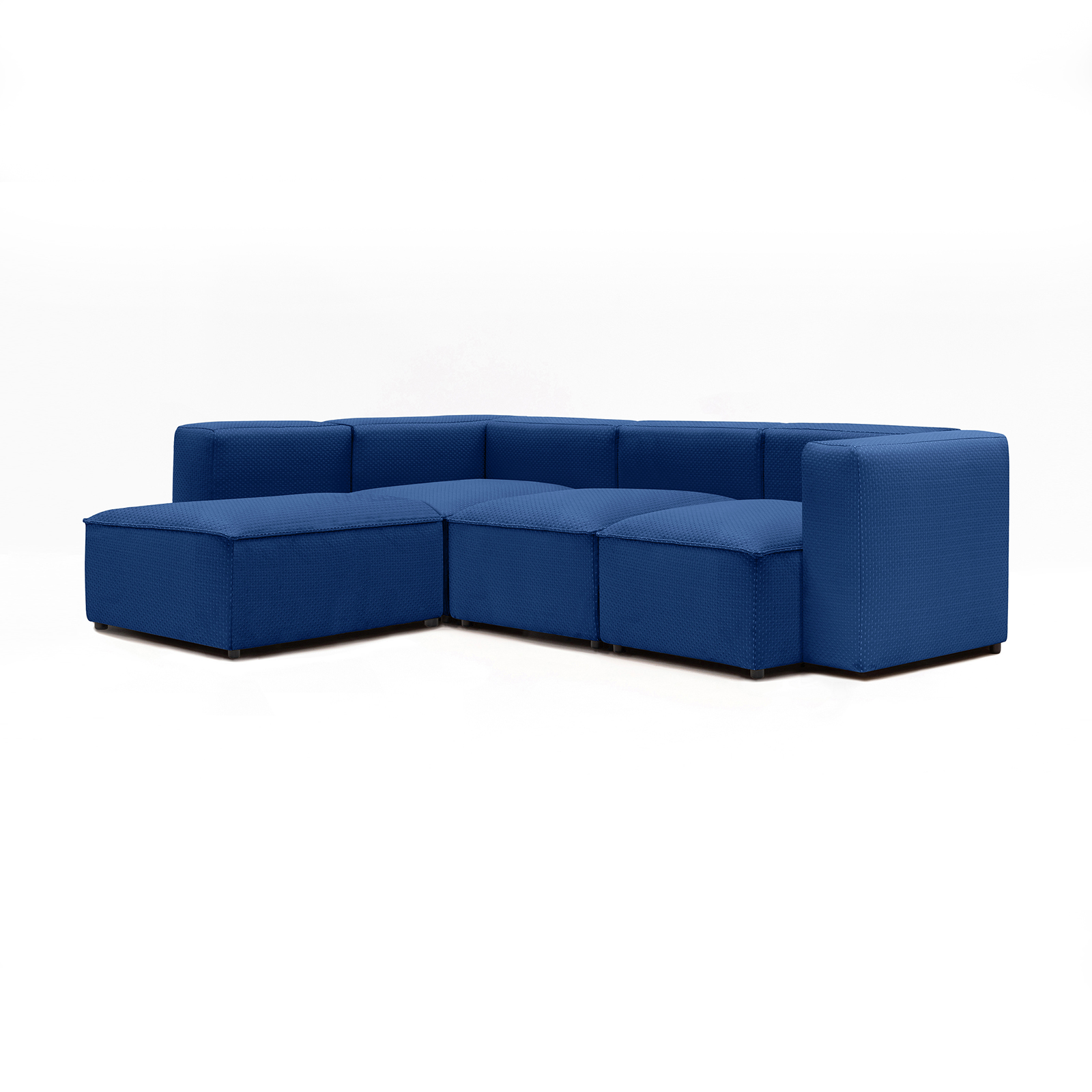 Permanent Future Easey Sofa 3 Seater Sectional Long Left Zoom Electric Pf Sf Ea X3l L Ze 45º View