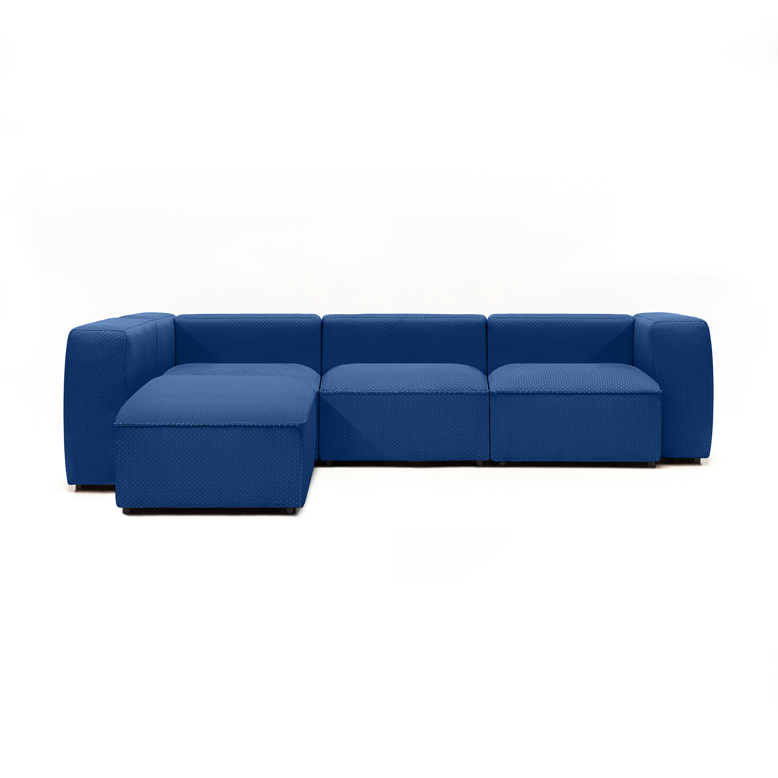 Permanent Future Easey Sofa 3 Seater Sectional Long Left Zoom Electric Pf Sf Ea X3l L Ze Front View