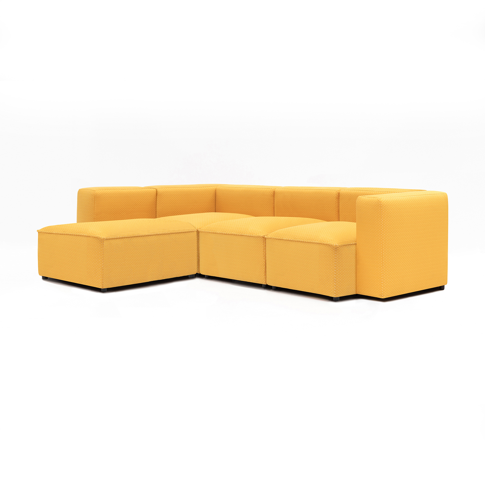 Permanent Future Easey Sofa 3 Seater Sectional Long Left Zoom Yellow Pf Sf Ea X3l L Zy 45º View