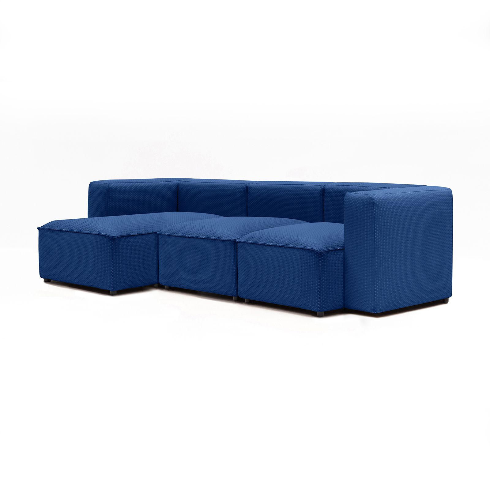 Permanent Future Easey Sofa 3 Seater Sectional Short Left Zoom Electric Pf Sf Ea X3s L Ze 45º View
