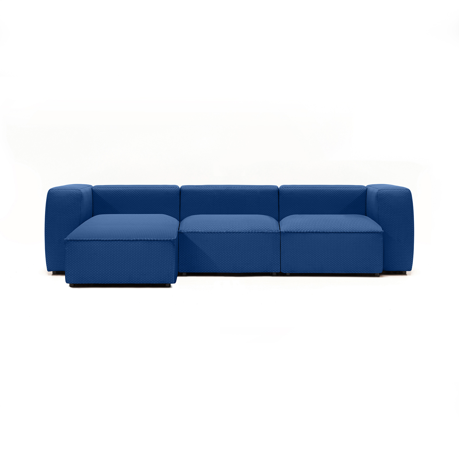 Permanent Future Easey Sofa 3 Seater Sectional Short Left Zoom Electric Pf Sf Ea X3s L Ze Front View