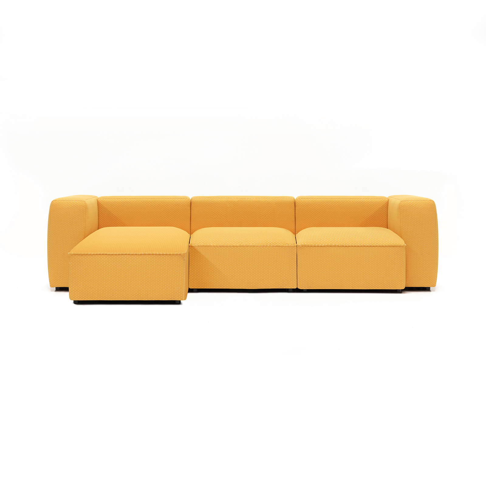 Permanent Future Easey Sofa 3 Seater Sectional Short Left Zoom Yellow Pf Sf Ea X3s L Zy Front View