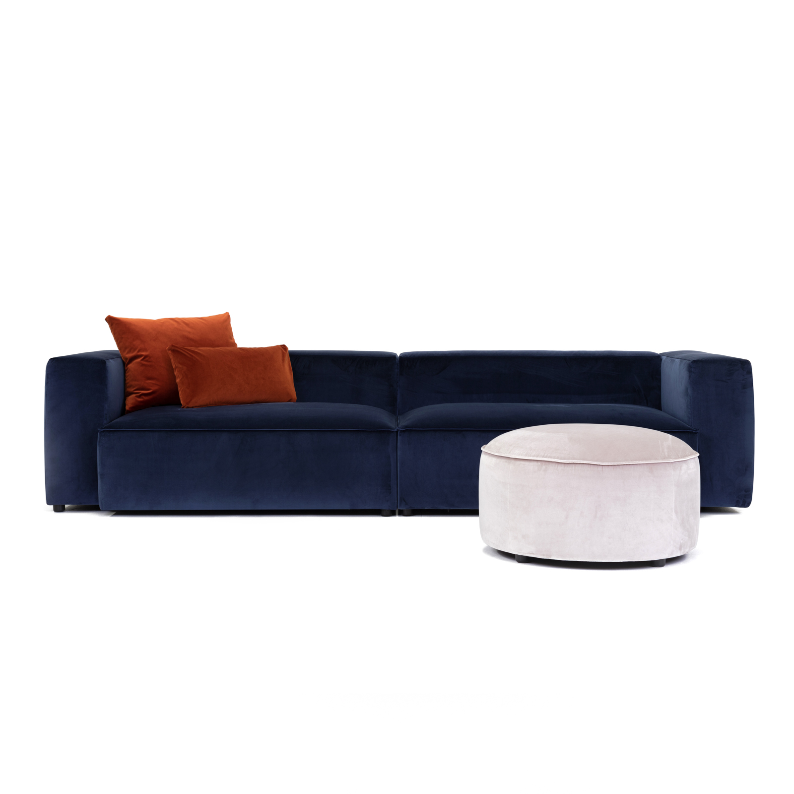 Permanent Future Easey Sofa 3.5 Seater Atelier Oxford Dream Ottoman Luxury Cushions Pf Sf Ea 3.5 Ao Front View