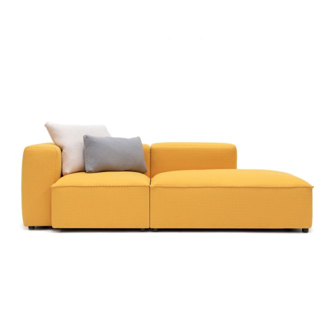 Permanent Future Easey Sofa Chasie Left Zoom Yellow Light Grey Cream Cushion Pf Sf Ea Ch L Zy Front View