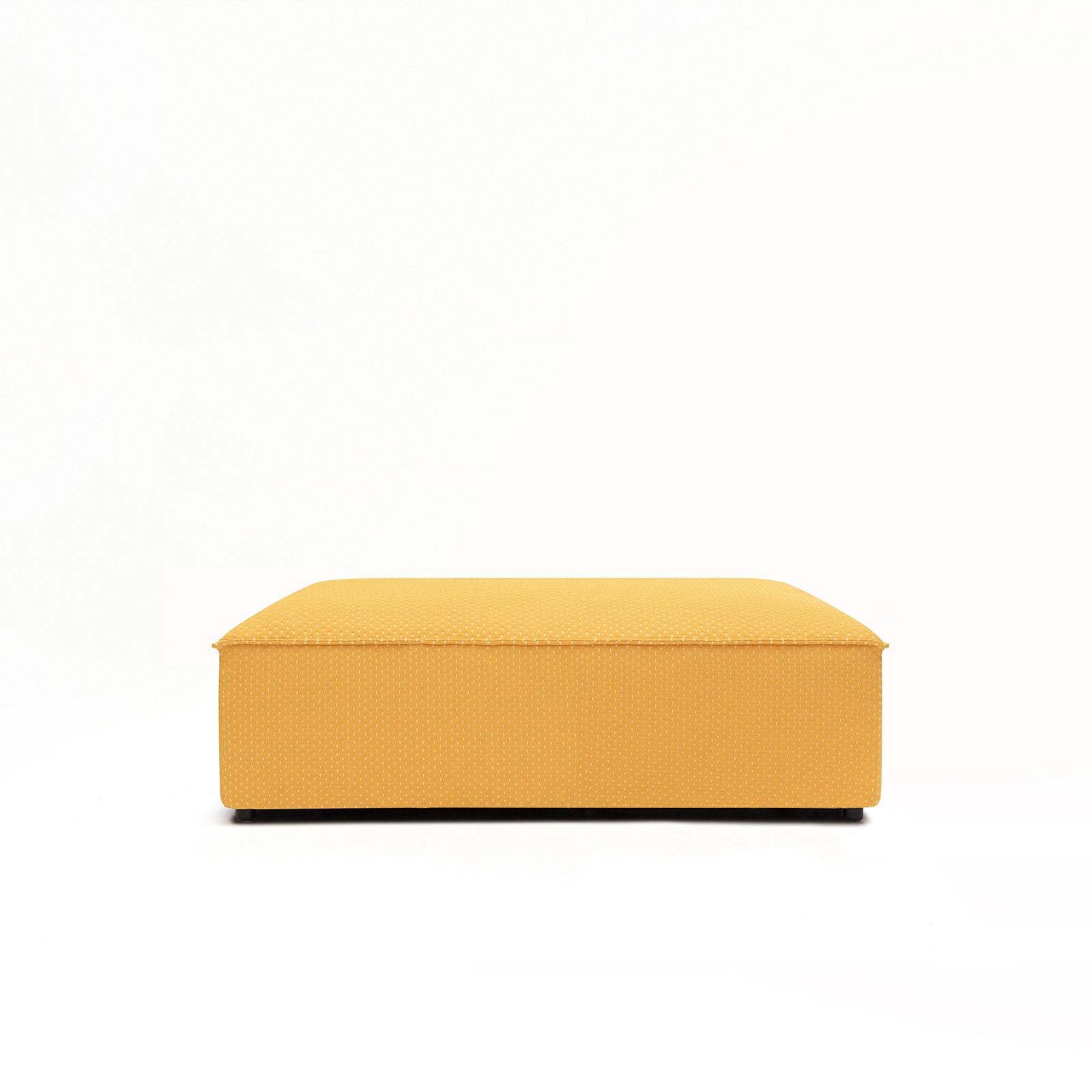 Permanent Future Easey Sofa Ottoman Rectangle in Zoom Yellow Fabric