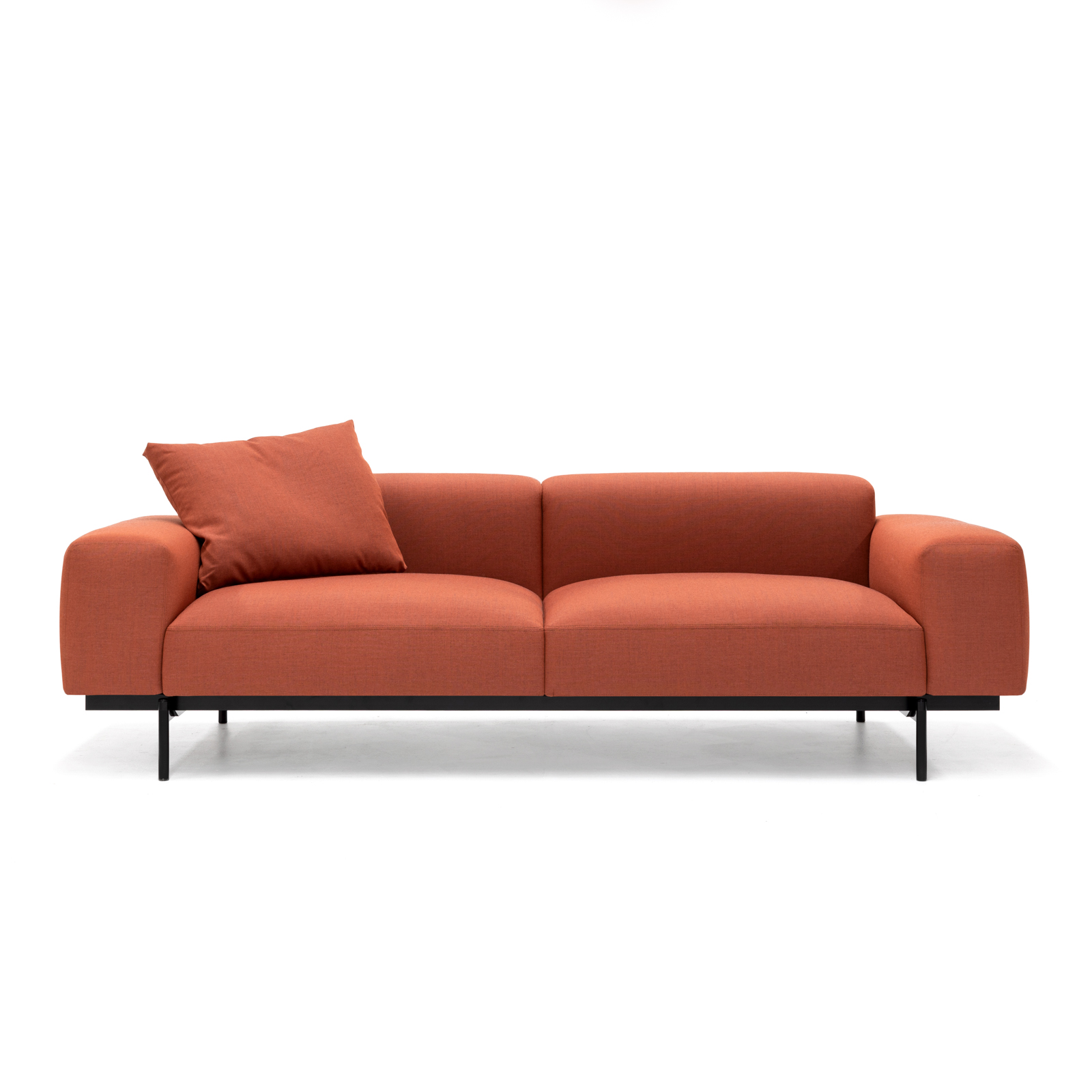 Permanent Future Perry Sofa 2.5 Seater Native Red Ochre Large Cushion Pf Sf Pr 2.5 Nro Front View