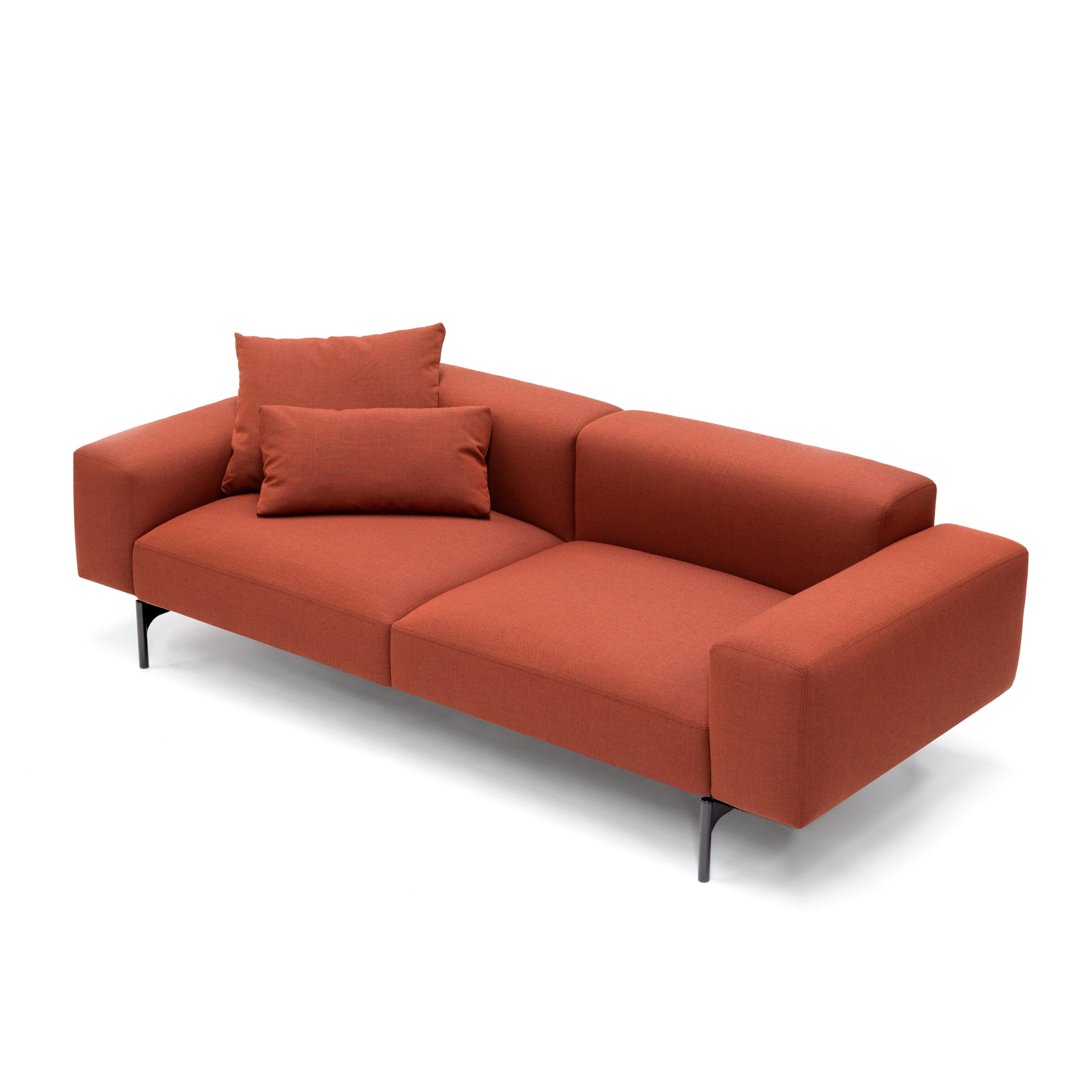 Permanent Future Perry Sofa 2.5 Seater Native Red Ochre Large Cushion Pf Sf Pr 2.5 Nro Top View