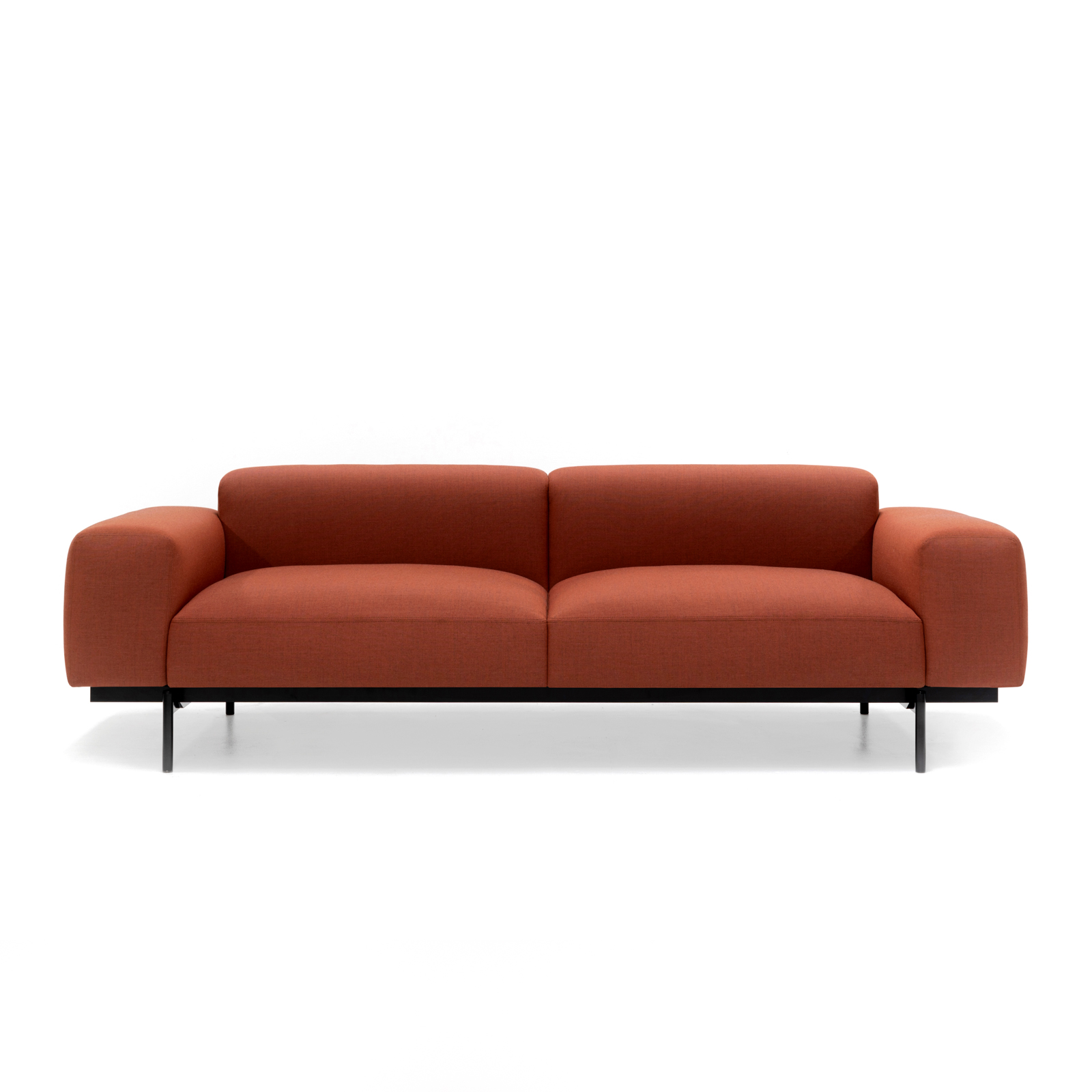 Permanent Future Perry Sofa 2.5 Seater Native Red Ochre Pf Sf Pr 2.5 Nro Front View