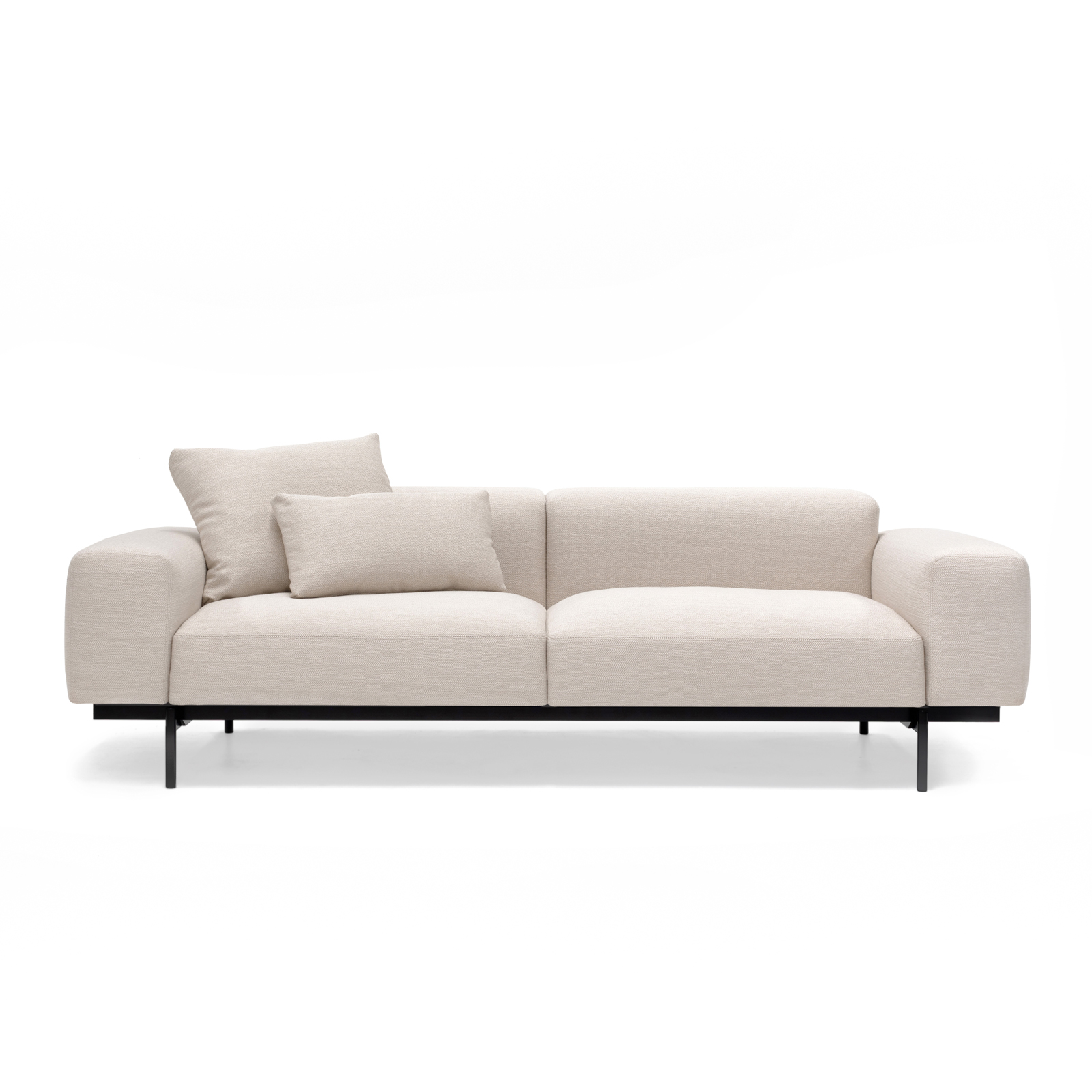 Permanent Future Perry Sofa 2.5 Seater Pure Pumice Cushion Large Small Pf Sf Pr 2.5 Pp Front View