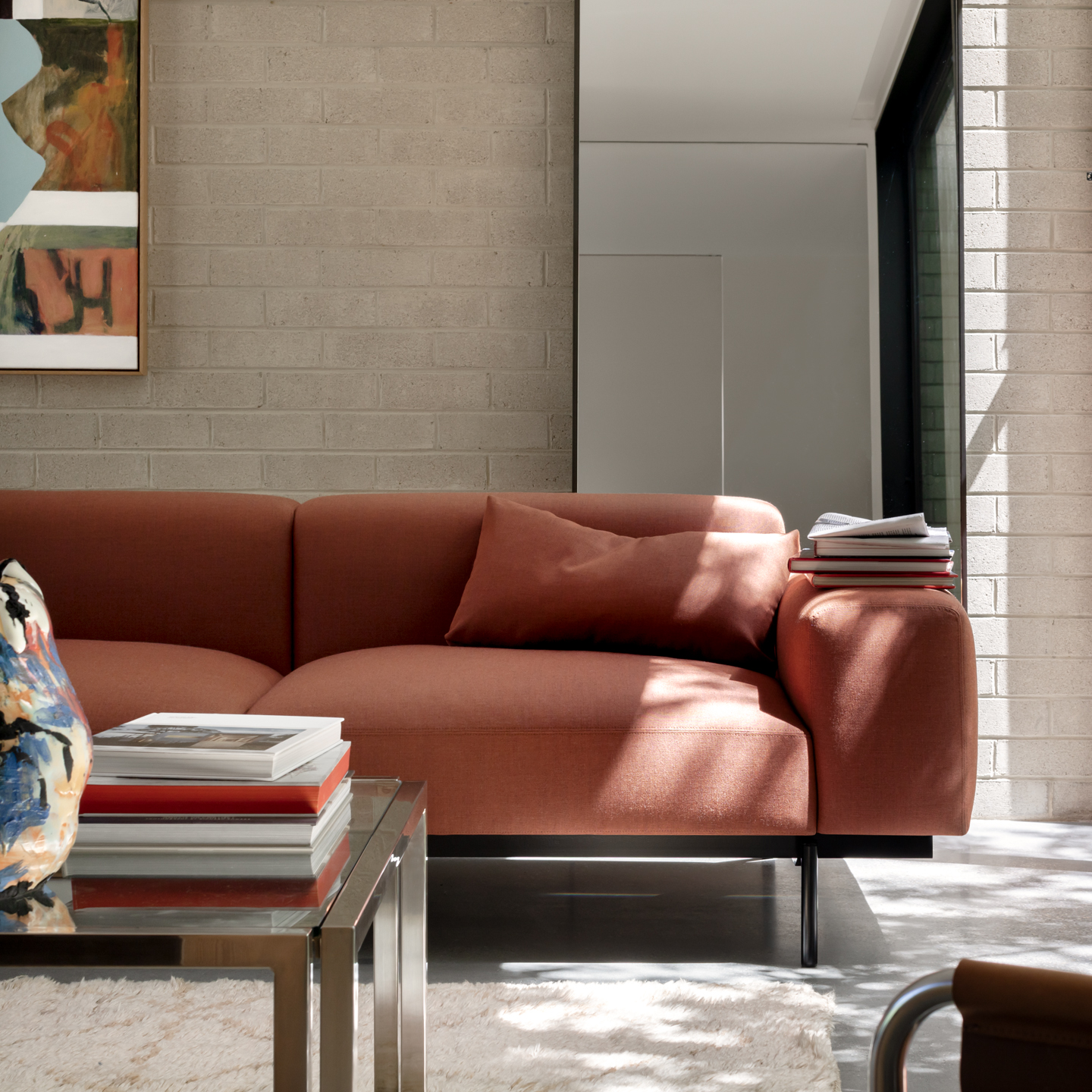 Permanent Future Perry Sofa Red Styled 1 1 3