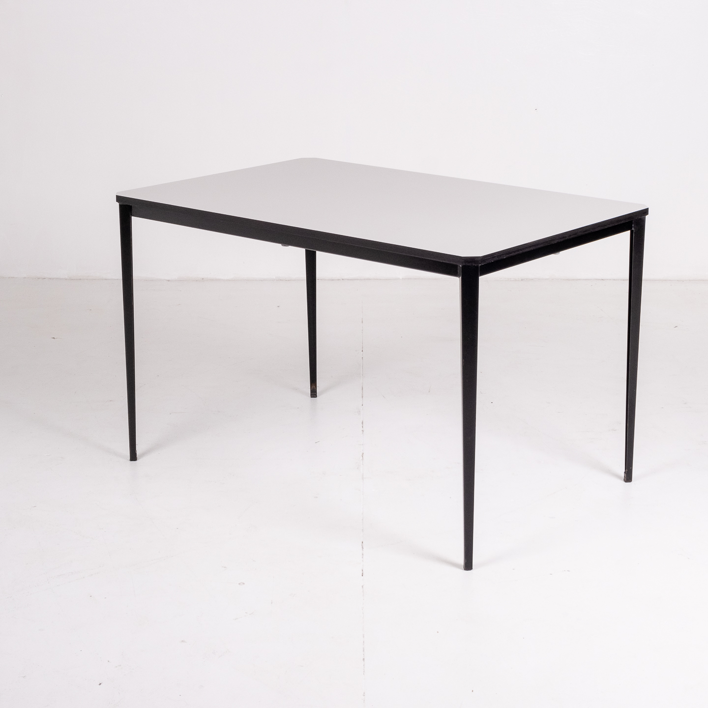 Recent Table By Wim Rietveld For Ahrend De Cirkel With Black Steel Base, 1960s, The Netherlands56
