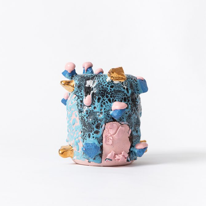 Bright Blue And Pink Cylindrical Form Luke Oconnor Thumb