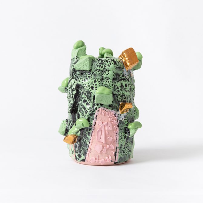 Green And Pink Cylindrical Form Luke Oconnor Thumb