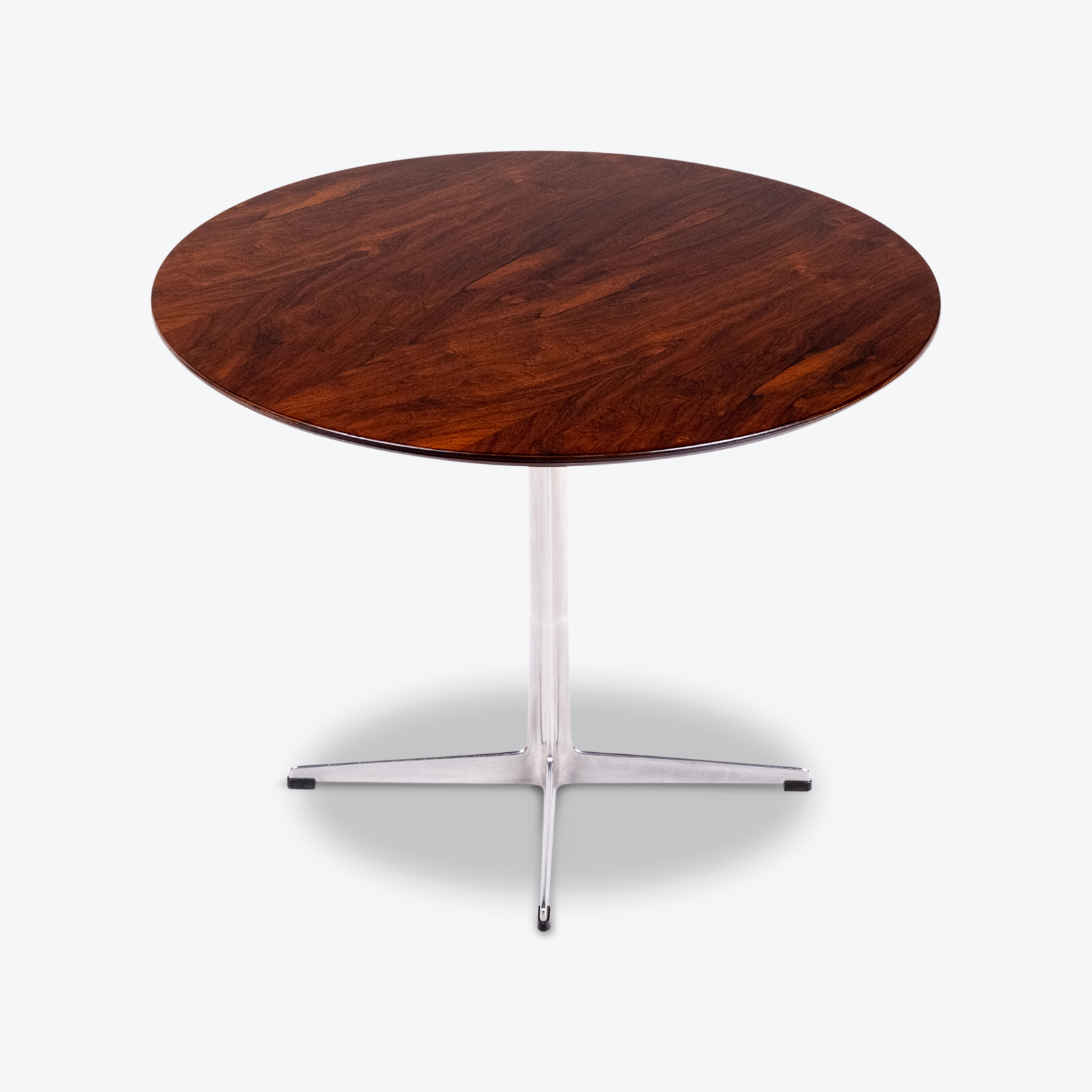 Cafe Table By Arne Jacobsen With Rosewood Top And Steel Pedestal Base, 1960s, Denmark Hero