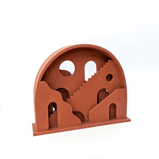Earth Portal, Terracotta Ceramic Sculpture By Oh Hey Grace Thumb