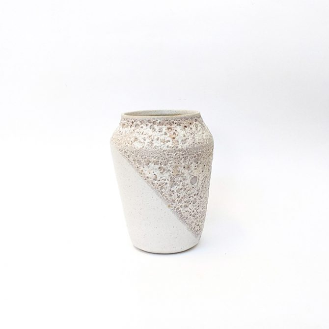 Lava Vase, White Ceramic With Lava Detail By Oh Hey Grace Thumb