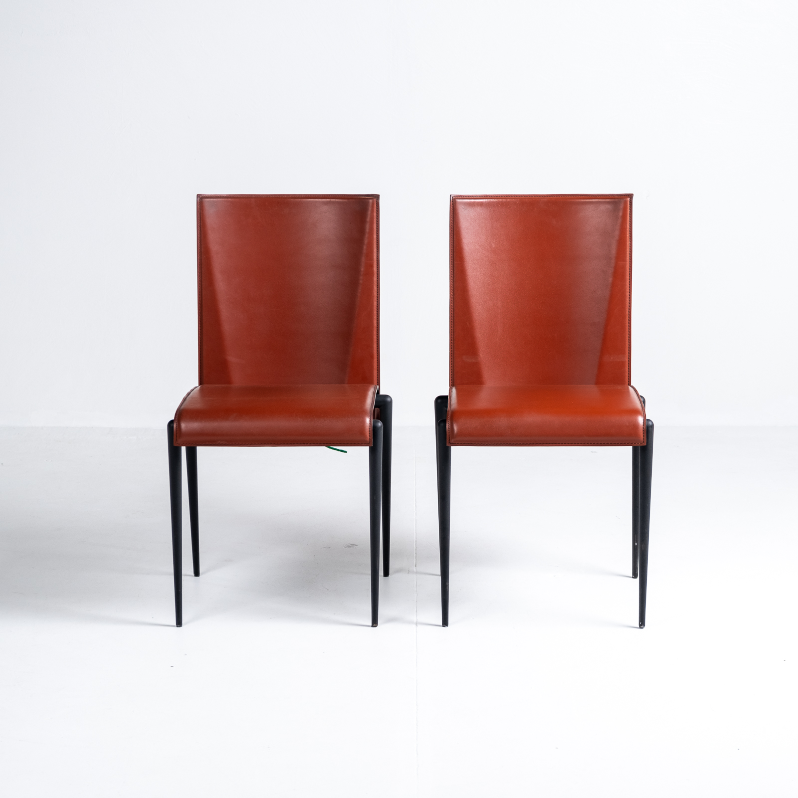 High Back Chair By Cidue In Red Leather, 1970s, Italy 03