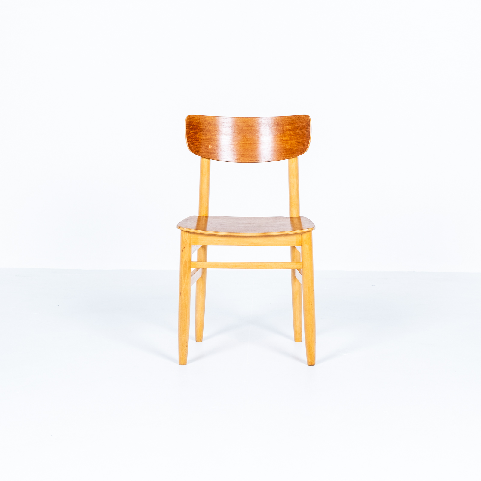 Set Of Four Dining Chairs In Beech And Oak, 1960s, Sweden 02