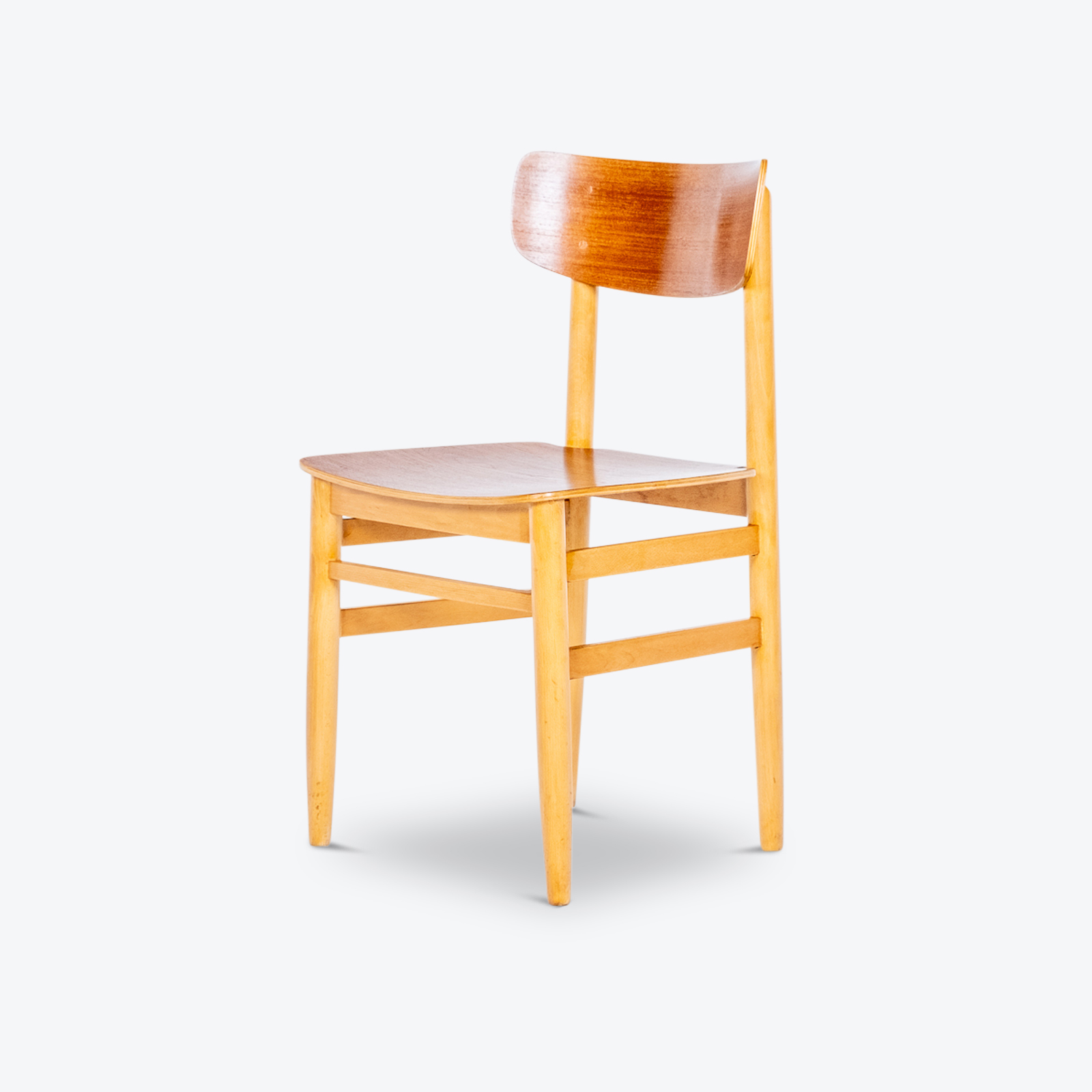 Set Of Four Dining Chairs In Beech And Oak, 1960s, Sweden 03 Hero