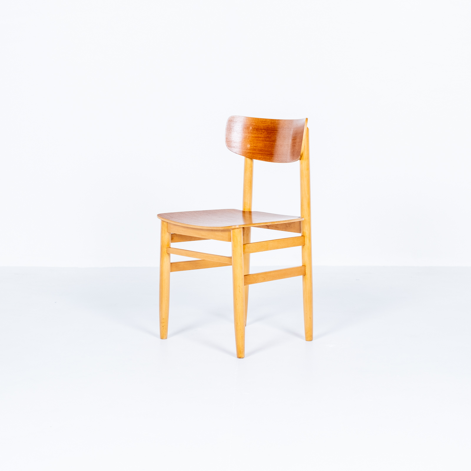 Set Of Four Dining Chairs In Beech And Oak, 1960s, Sweden 03