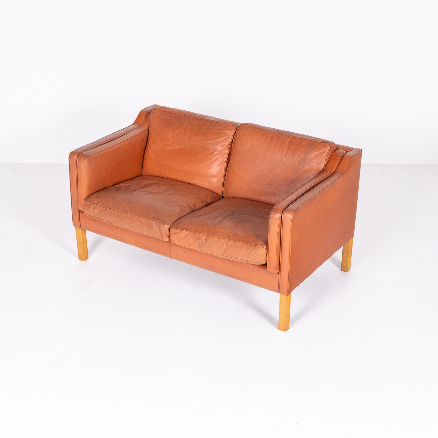2 Seat Sofa In Tan Leather By Georg Thams, 1960s, Denmark1