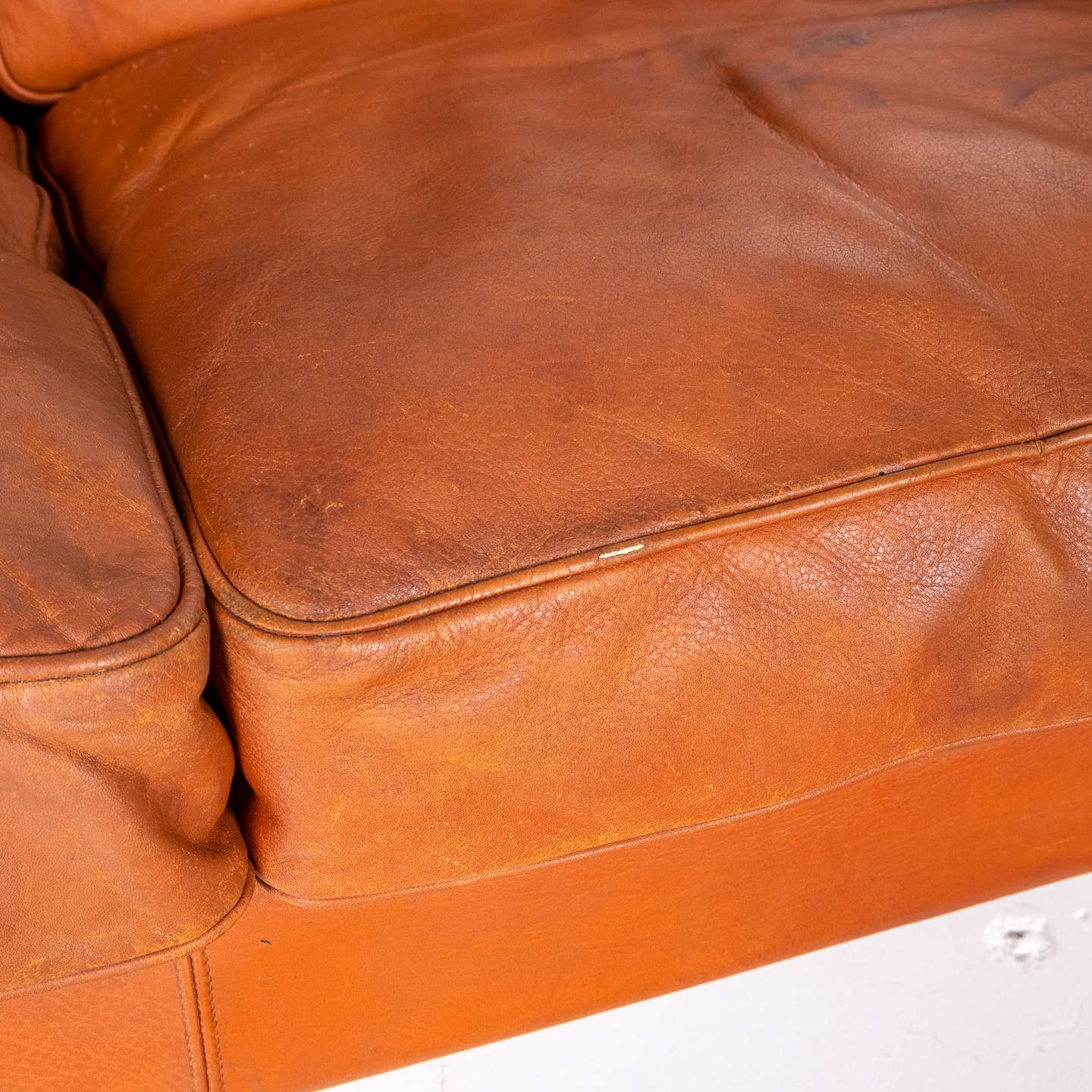 2 Seat Sofa In Tan Leather By Georg Thams, 1960s, Denmark4