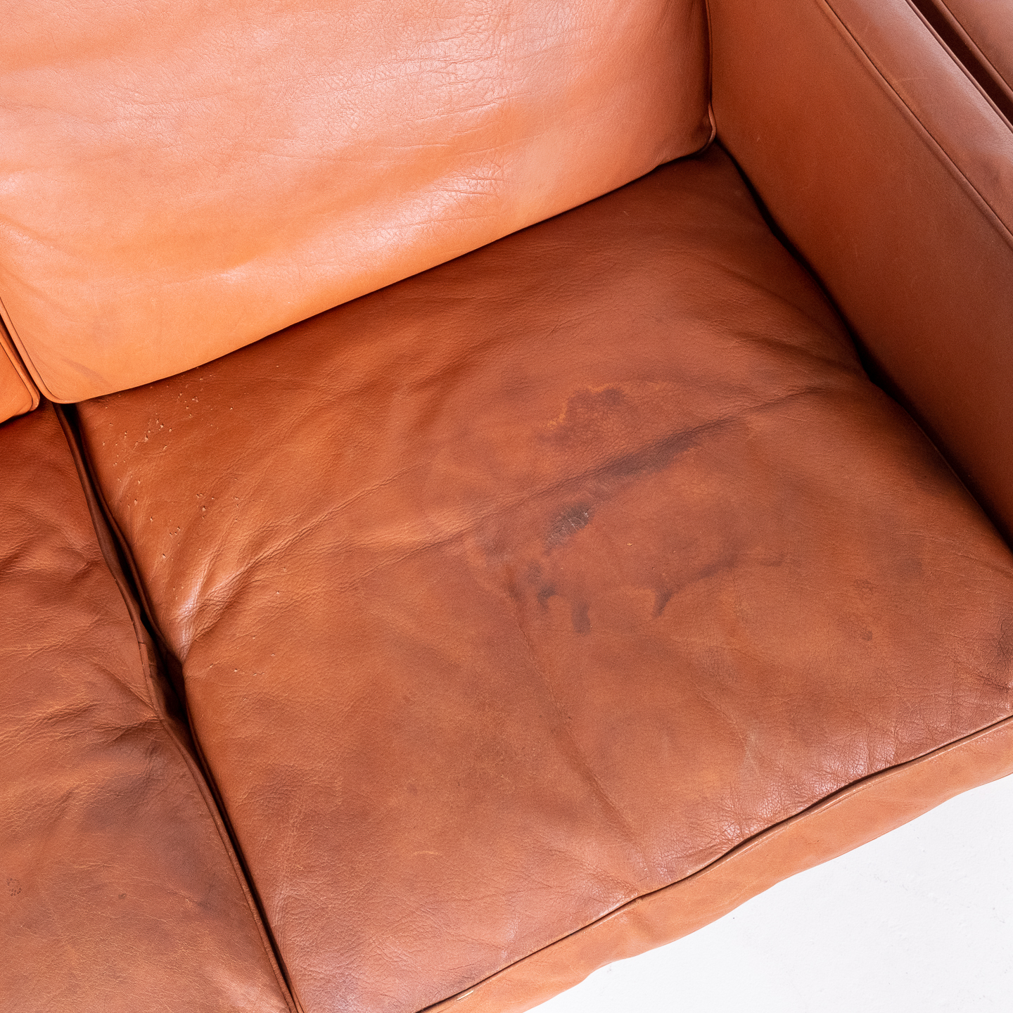 2 Seat Sofa In Tan Leather By Georg Thams, 1960s, Denmark5
