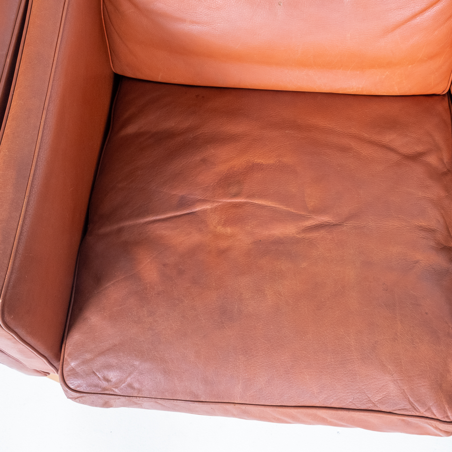 2 Seat Sofa In Tan Leather By Georg Thams, 1960s, Denmark6