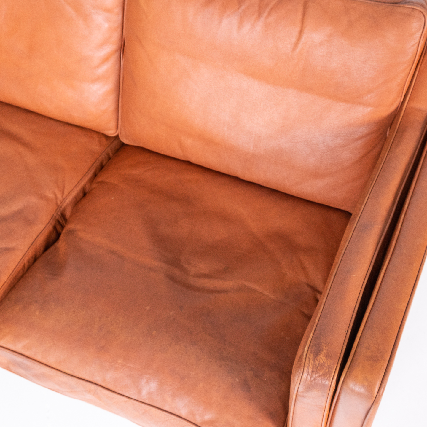 3 Seat Sofa In Tan Leather By Thams, 1960s, Denmark00004