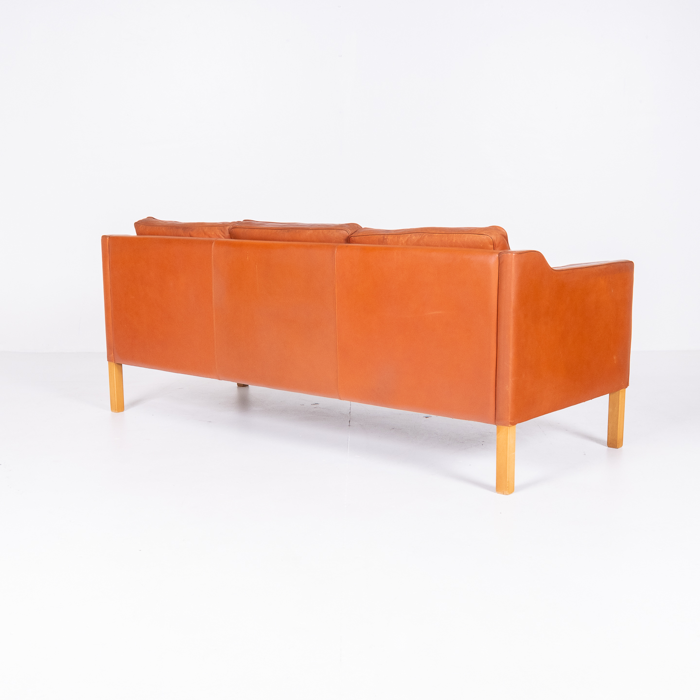 3 Seat Sofa In Tan Leather By Thams, 1960s, Denmark00006