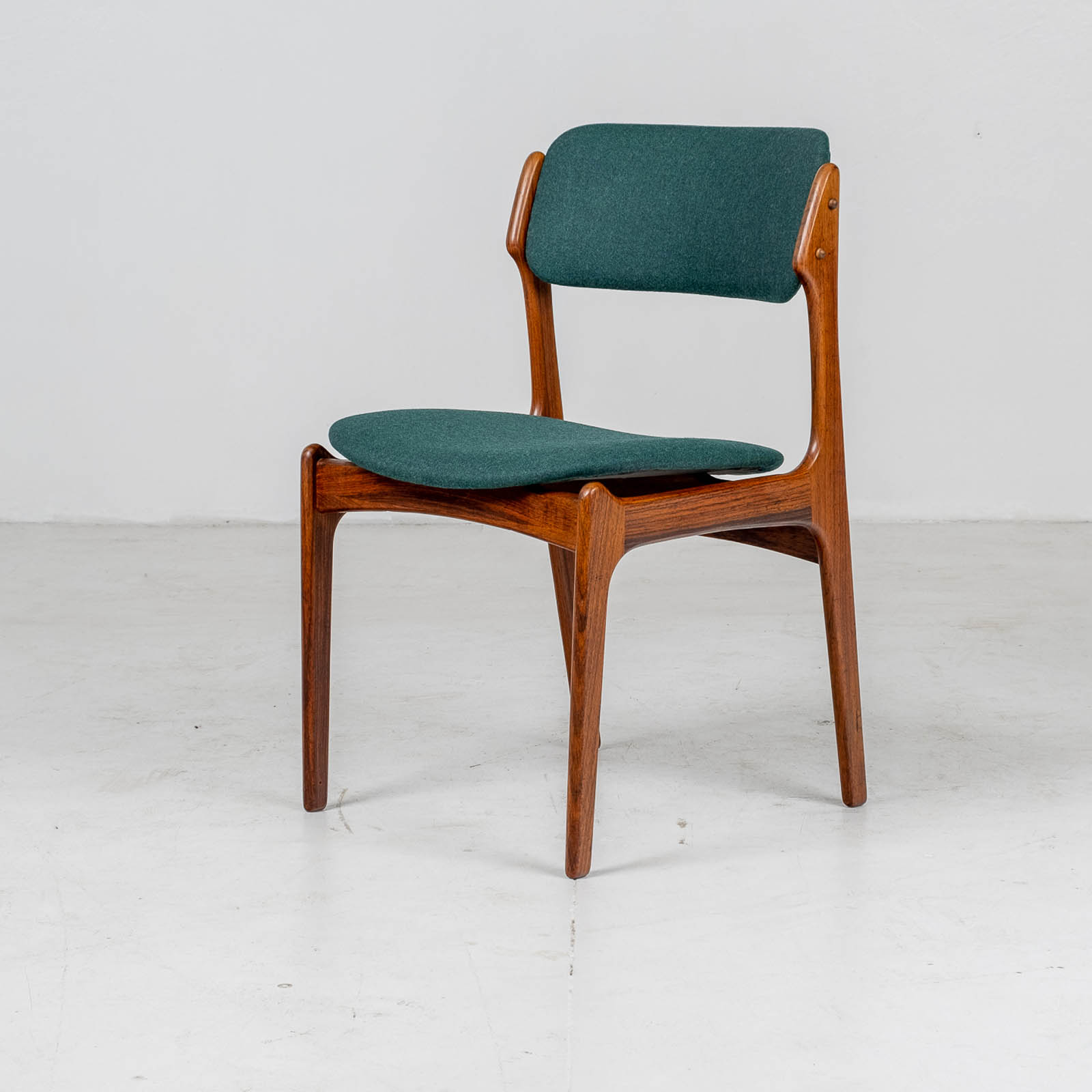 Hero Set 6 Dining Chairs By Eric Buch In Rosewood, 1960s, Denmark