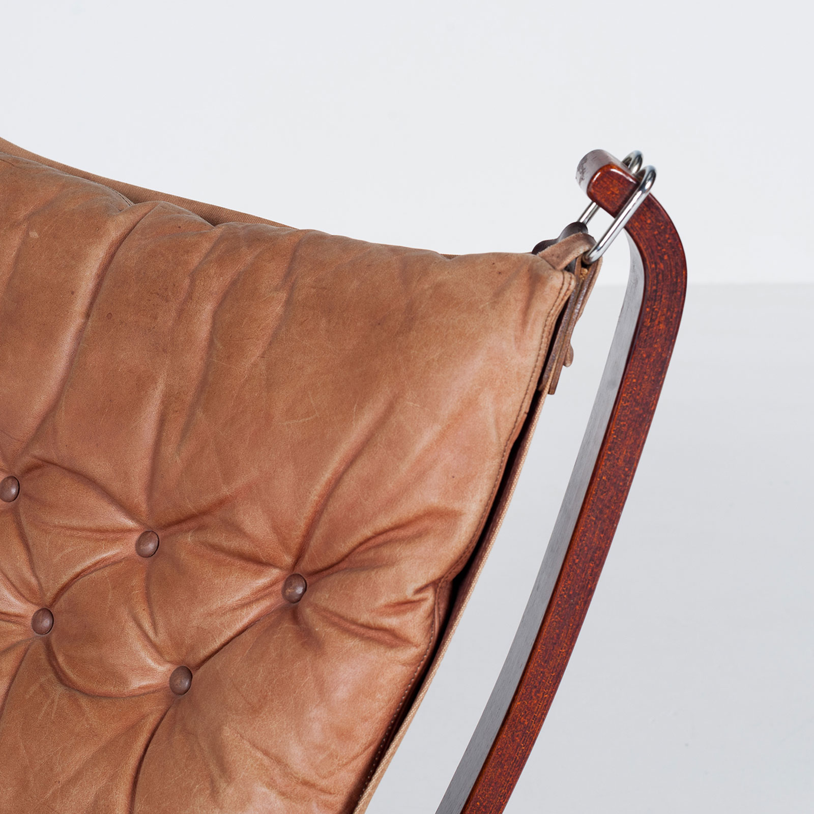 Low Back Falcon Armchair In Tan Leather By Sigurd Ressell For Vatne Mobler, 1971, Norway6703