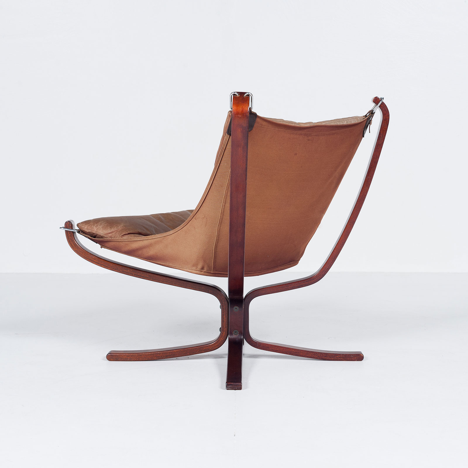 Low Back Falcon Armchair In Tan Leather By Sigurd Ressell For Vatne Mobler, 1971, Norway6707