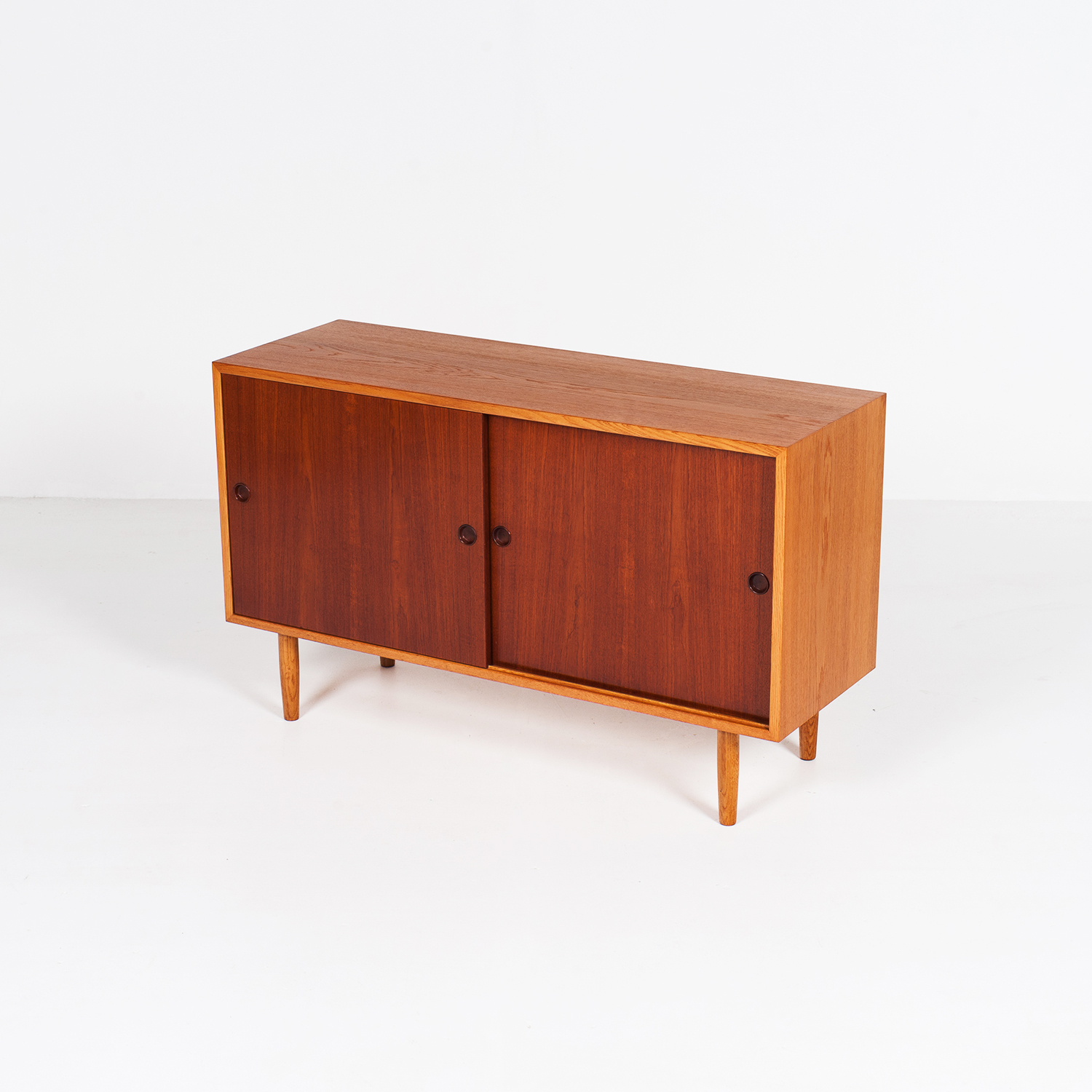 Oak Cabinet With Teak Doors By Borge Mogensen For Karl Andersson's, 1960s, Denmark6264 Copy