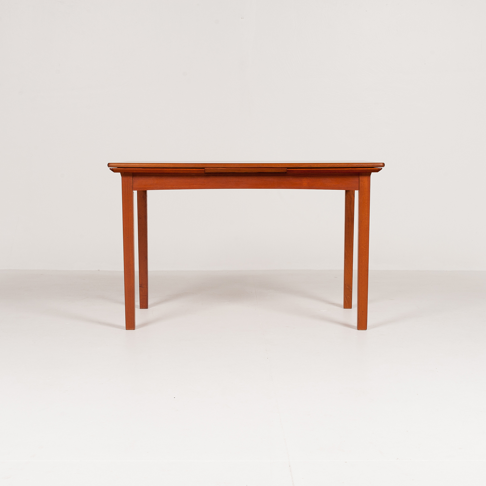 Rectangular Extension Dining Table In Teak With Square Legs, 1960s, Denmark6001