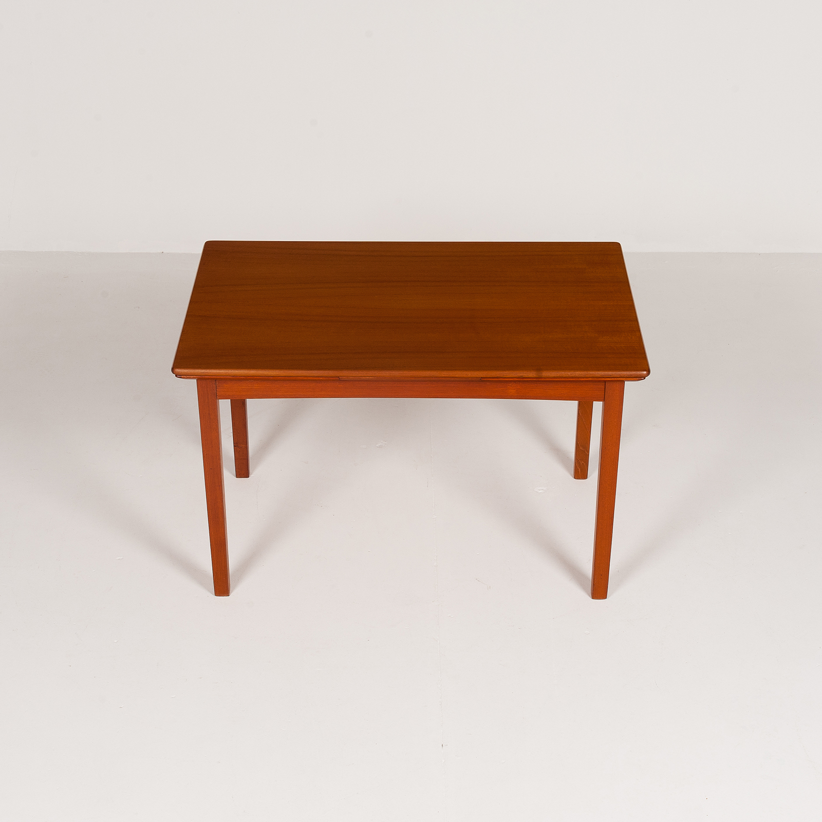 Rectangular Extension Dining Table In Teak With Square Legs, 1960s, Denmark6003