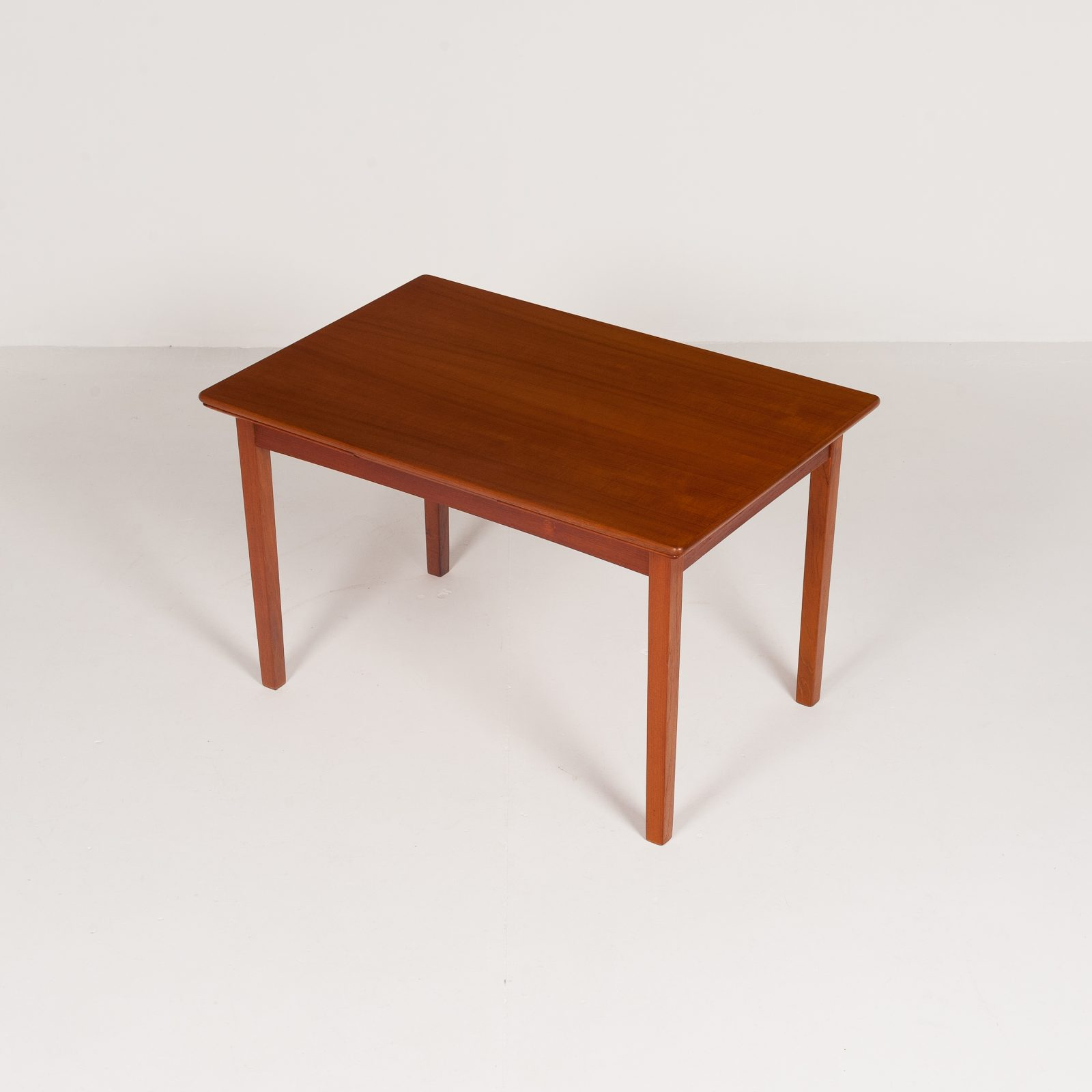 Rectangular Extension Dining Table In Teak With Square Legs, 1960s, Denmark6004